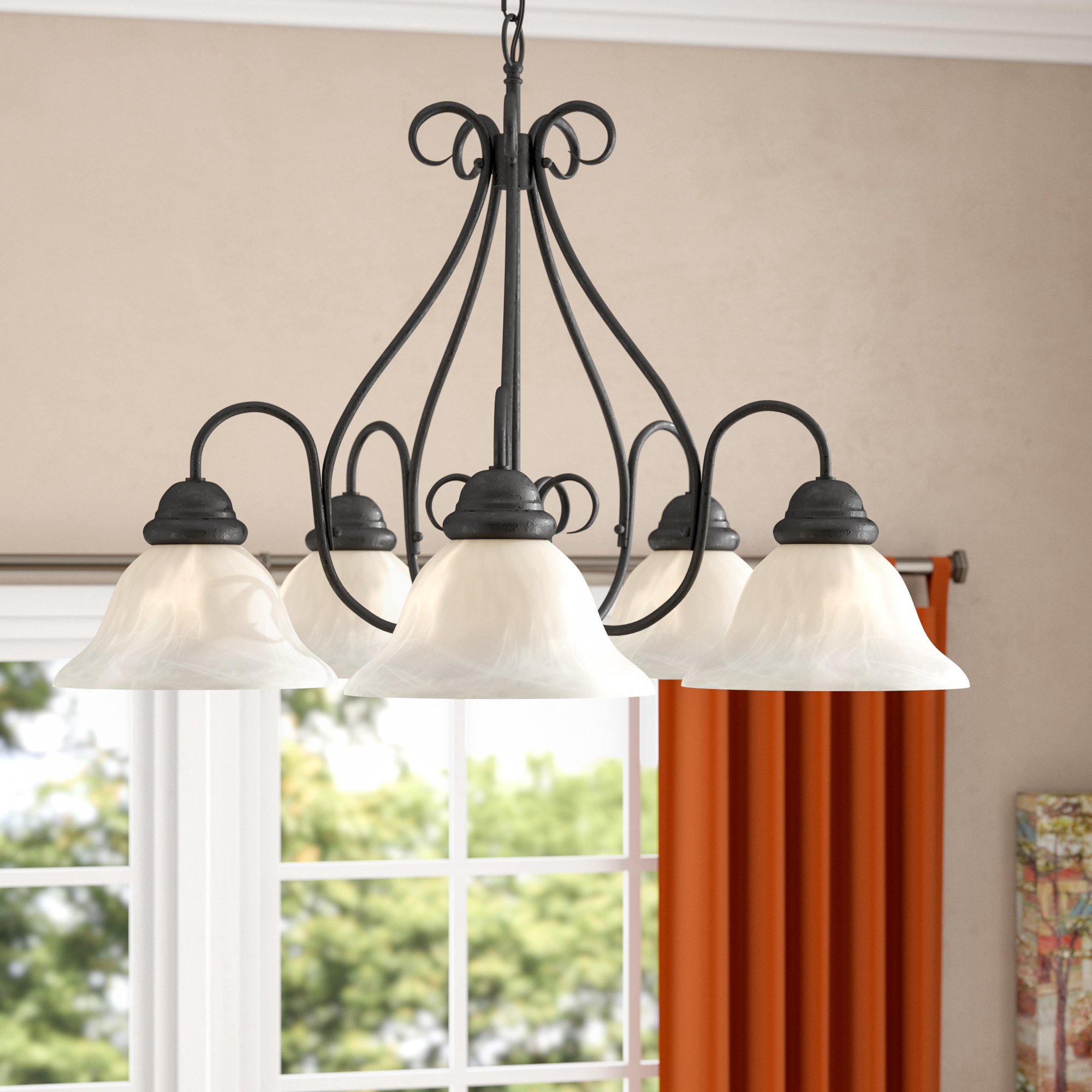 Most Current Claycomb 5 Light Shaded Chandelier With Gaines 5 Light Shaded Chandeliers (View 13 of 20)