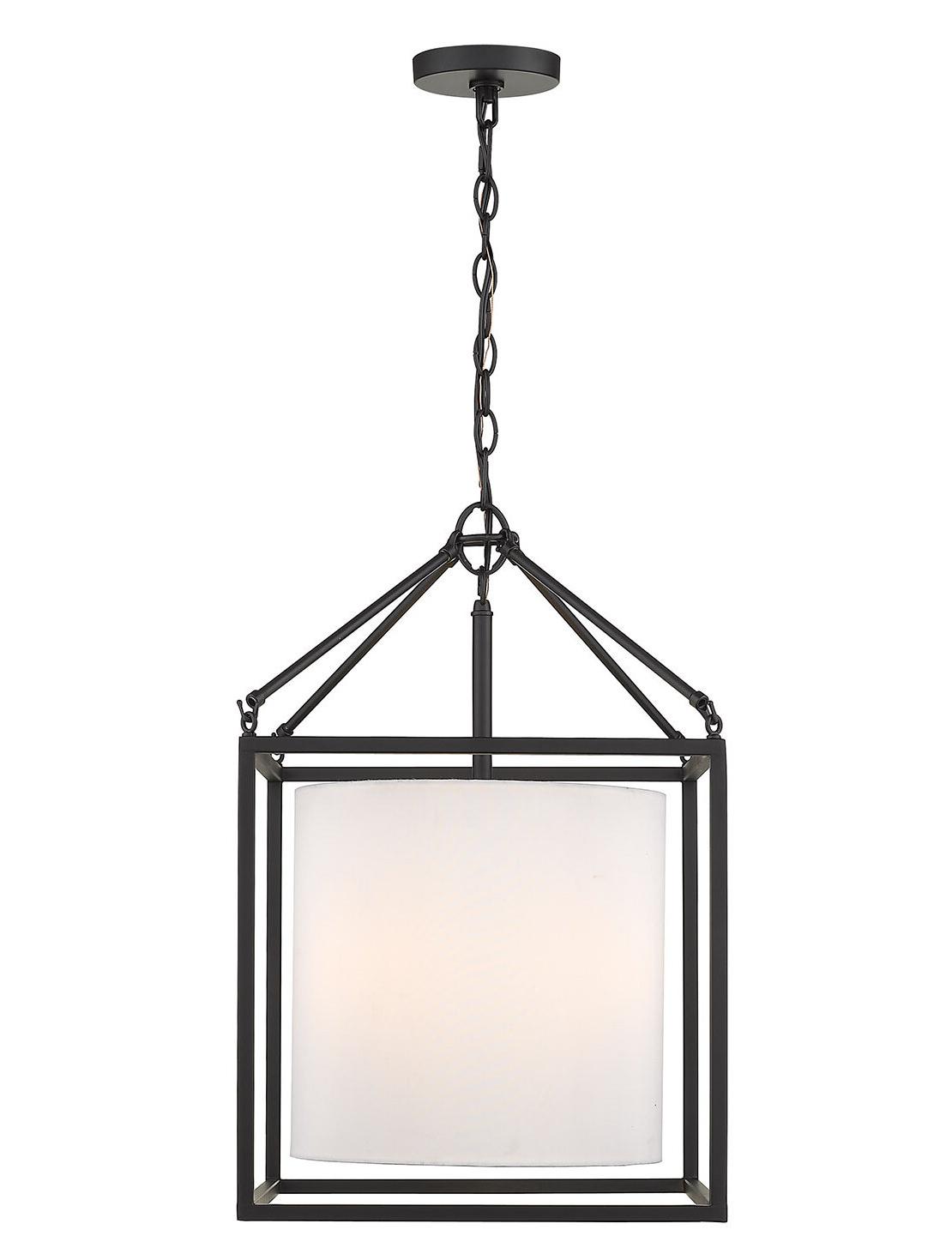 Most Current Dinapoli 3 Light Lantern Chandelier Pertaining To Louanne 3 Light Lantern Geometric Pendants (View 13 of 20)