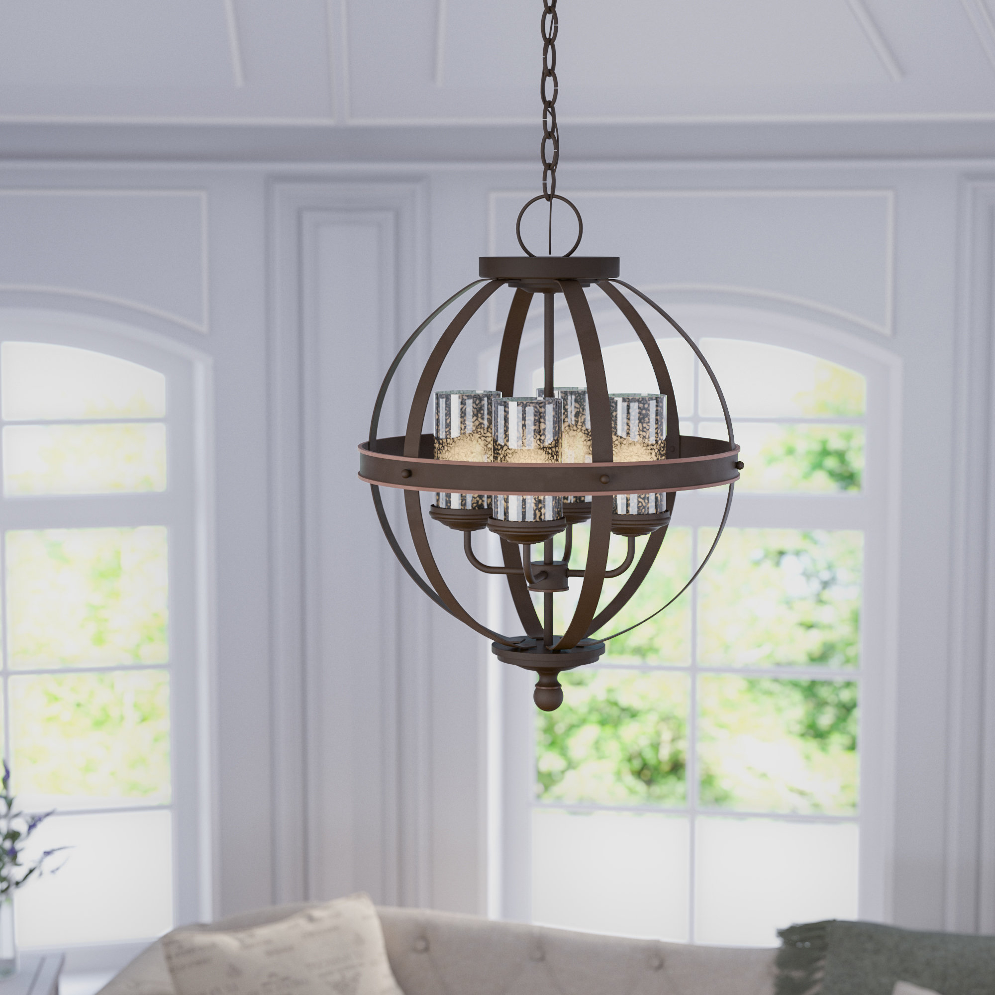 Most Current Donna 4 Light Globe Chandelier Pertaining To Donna 6 Light Globe Chandeliers (View 13 of 20)