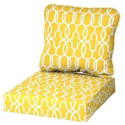Most Current Driweave 24 X 23 Vase Lattice Deep Seating Outdoor Lounge Chair Cushion In Patio Sofas With Cushions (Gallery 12 of 20)