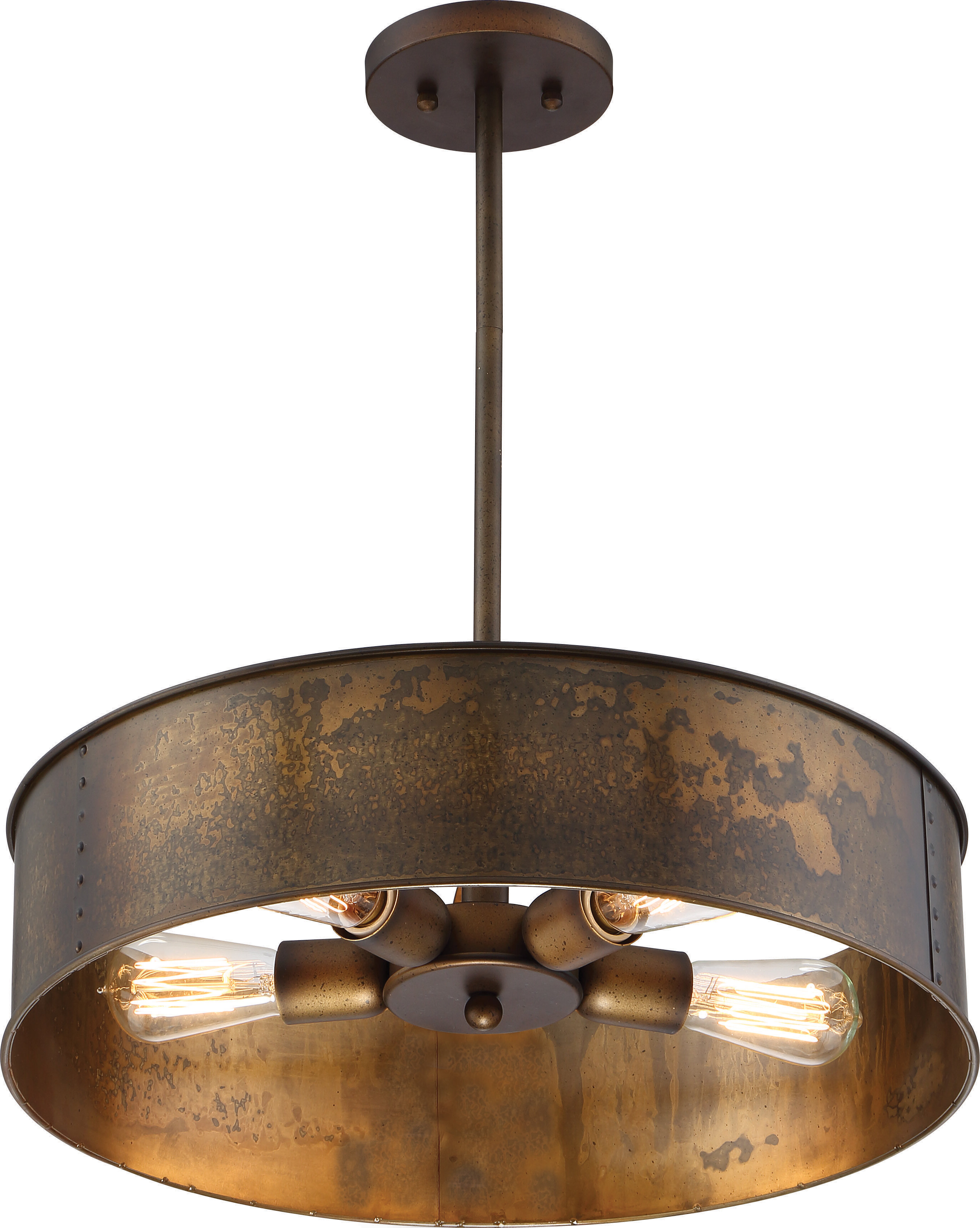 Most Current Emaria 3 Light Single Drum Pendants Within Baron 4 Light Drum Chandelier & Reviews (View 12 of 20)