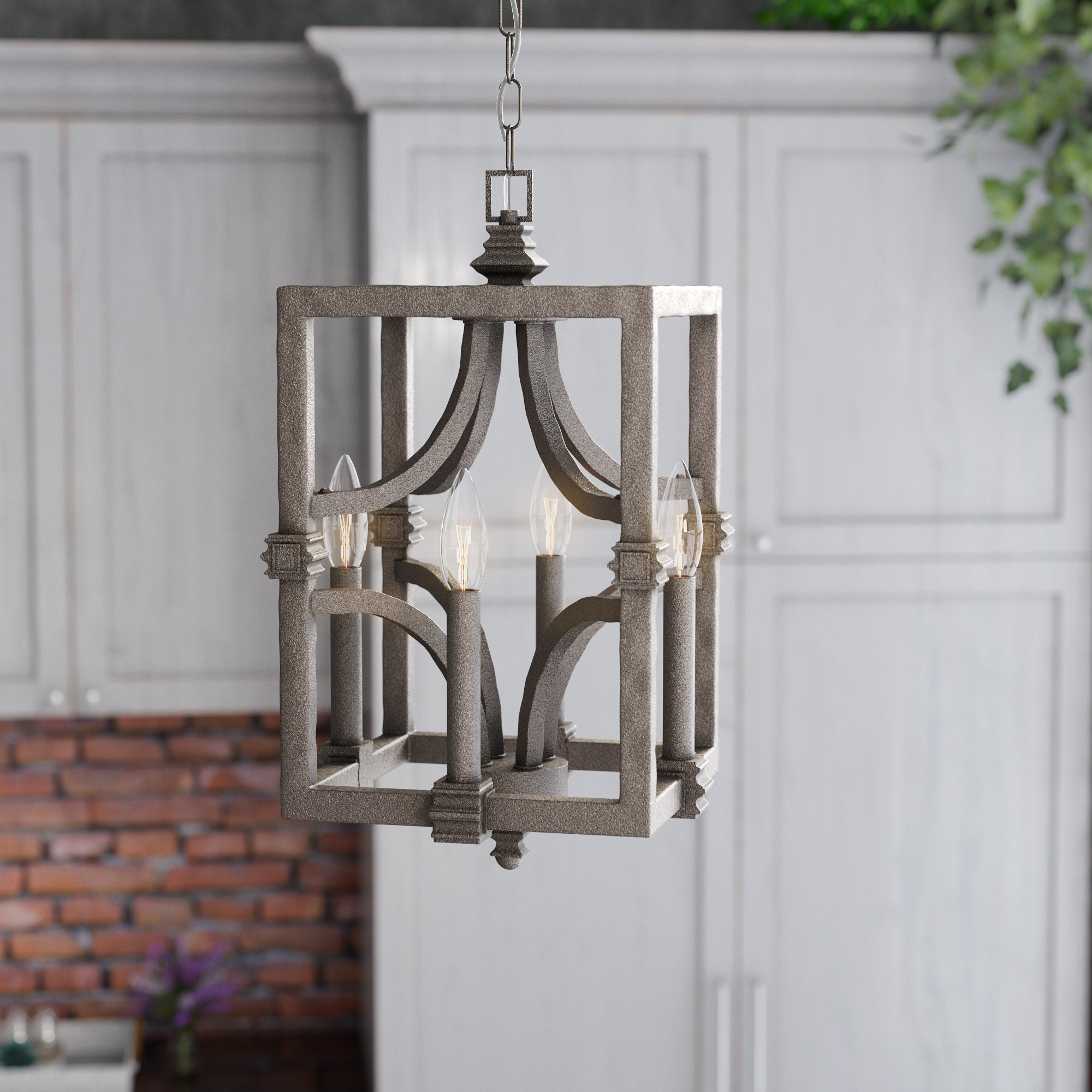 Most Current Freeburg 4 Light Lantern Square / Rectangle Pendant Intended For 4 Light Lantern Square / Rectangle Pendants (Gallery 14 of 20)