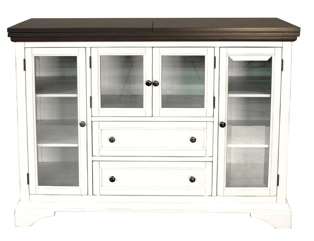 Most Current Good Reviews Canora Grey Build Aguero Flip Top Server @ Sale Regarding Haroun Mocha Sideboards (View 14 of 20)