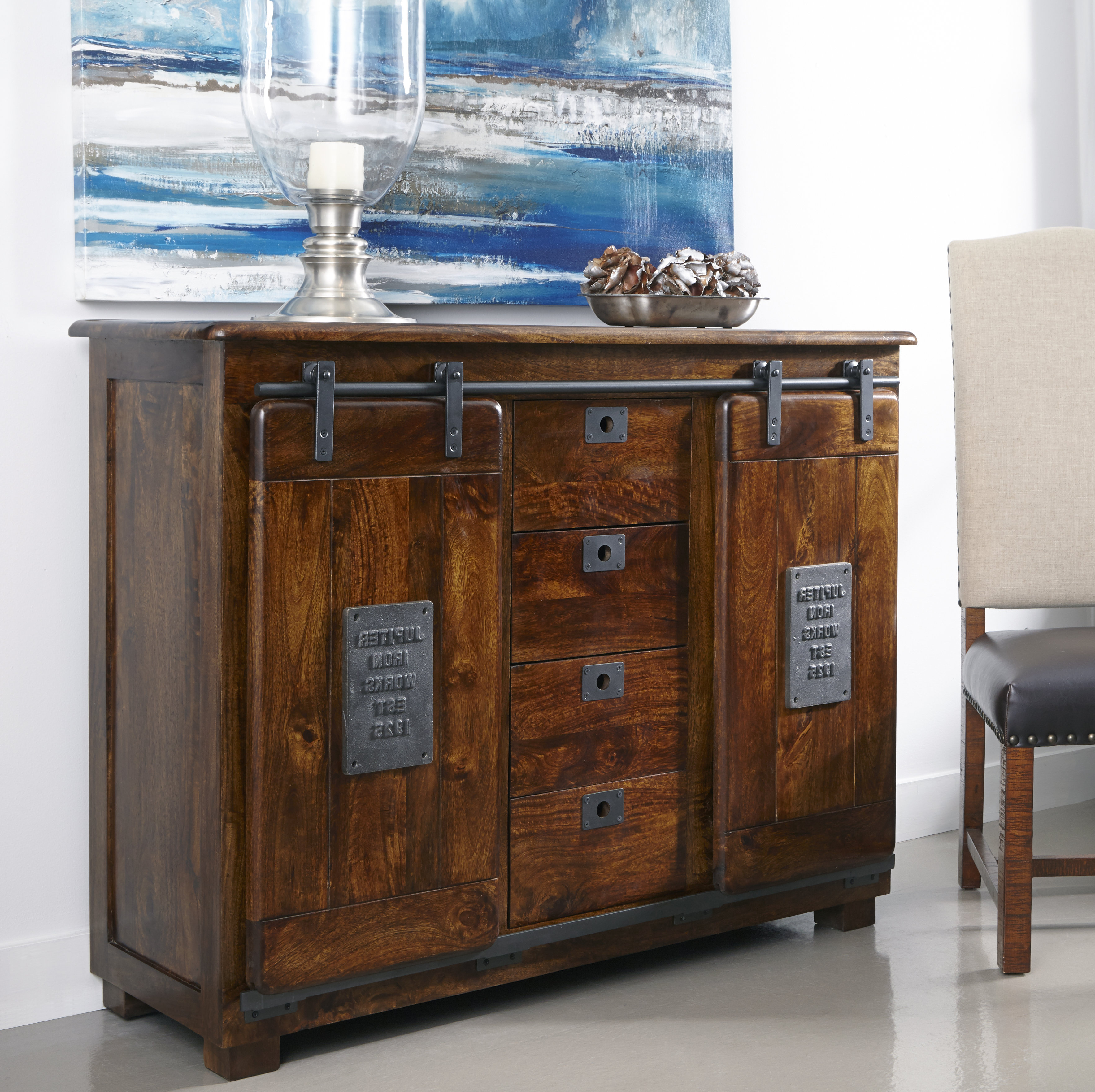 Most Current Guglielmo 2 Door 4 Drawer Sideboard With Drummond 3 Drawer Sideboards (View 13 of 20)