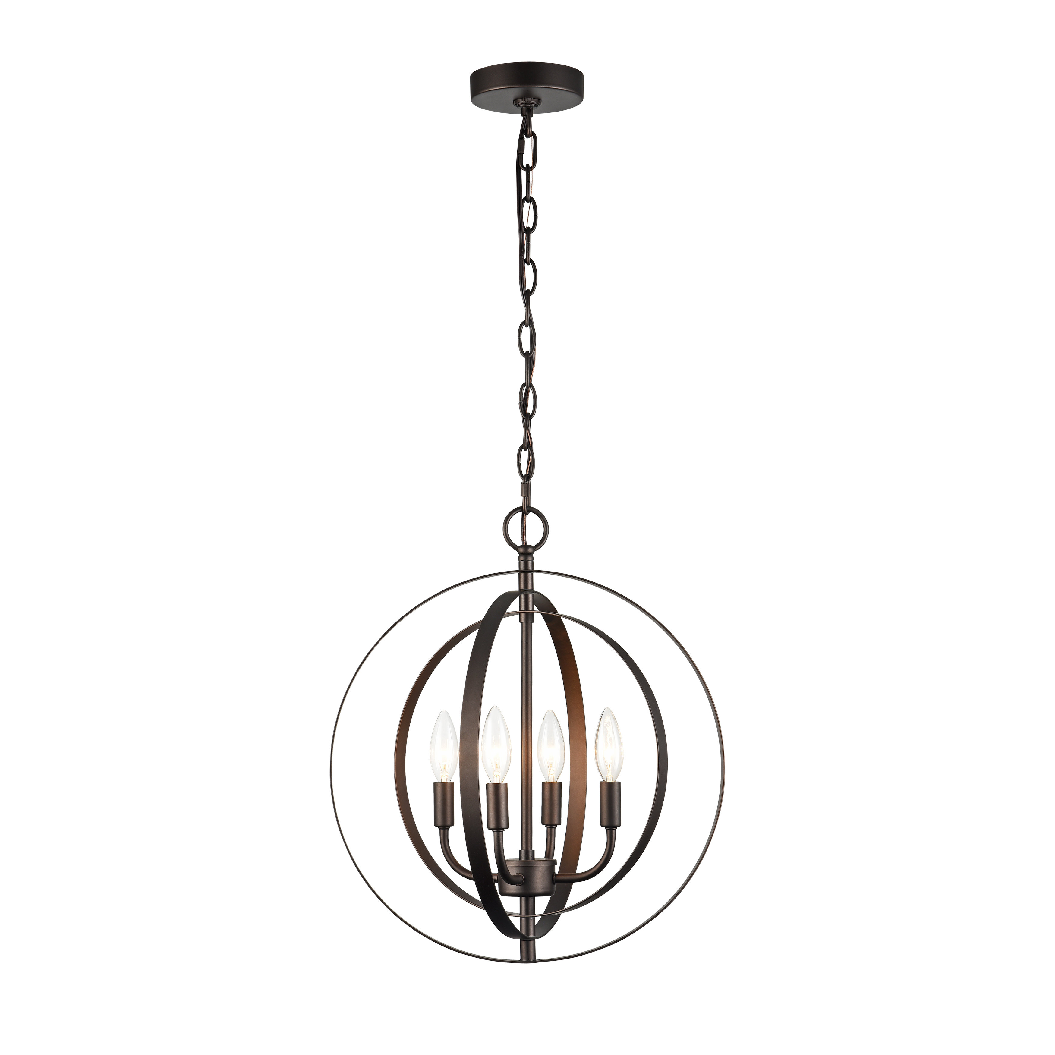 Most Current Gurney Slade 4 Light Chandelier Within Hendry 4 Light Globe Chandeliers (View 9 of 20)