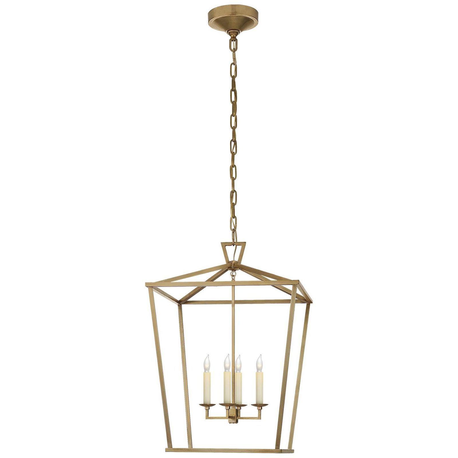 Most Current Isoline 2 Light Lantern Geometric Pendants Regarding E. F. Chapman Darlana 17 Inch Cage Pendantvisual Comfort (Gallery 10 of 20)