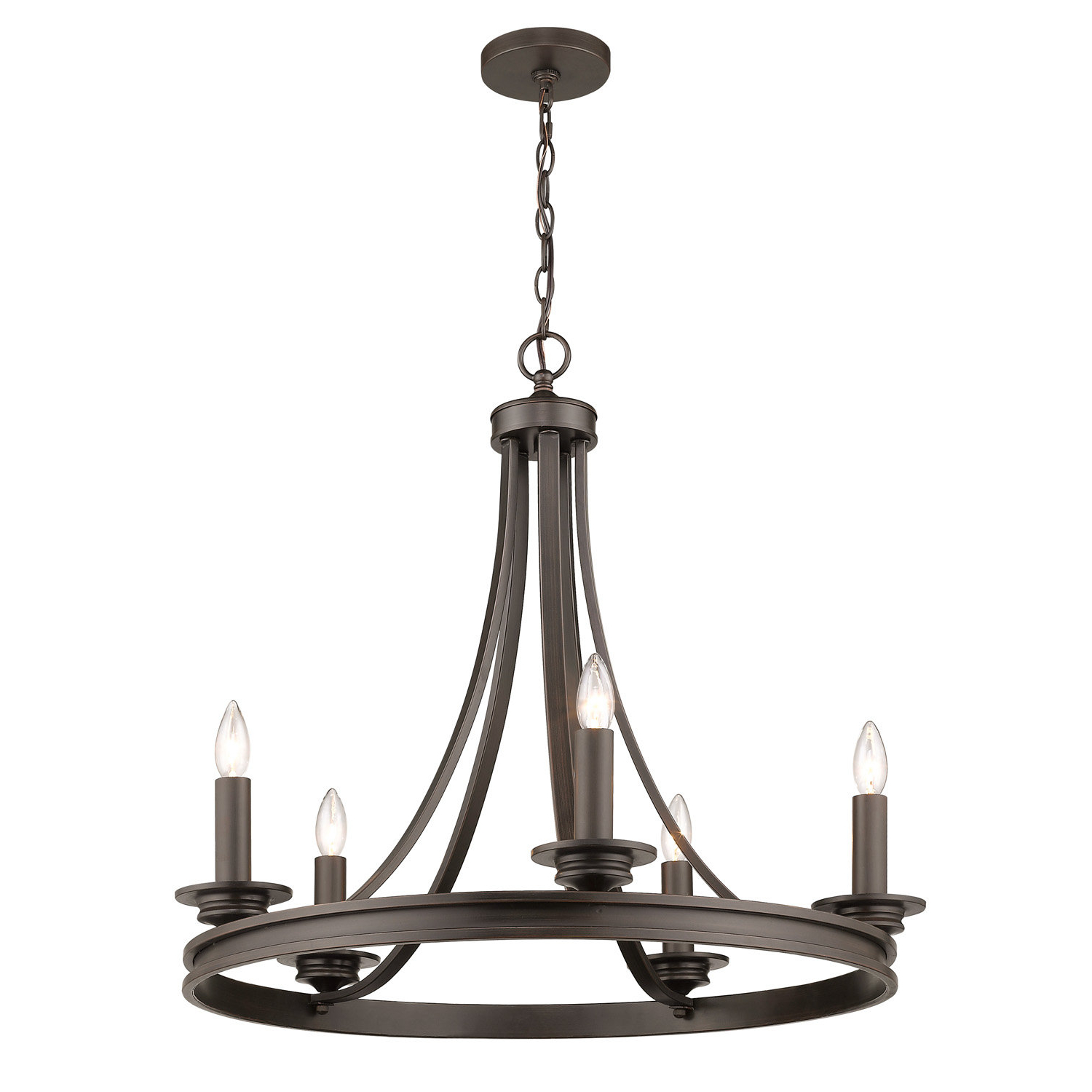 Most Current Janette 5 Light Wagon Wheel Chandeliers Intended For Pavon 5 Light Wagon Wheel Chandelier (View 12 of 20)