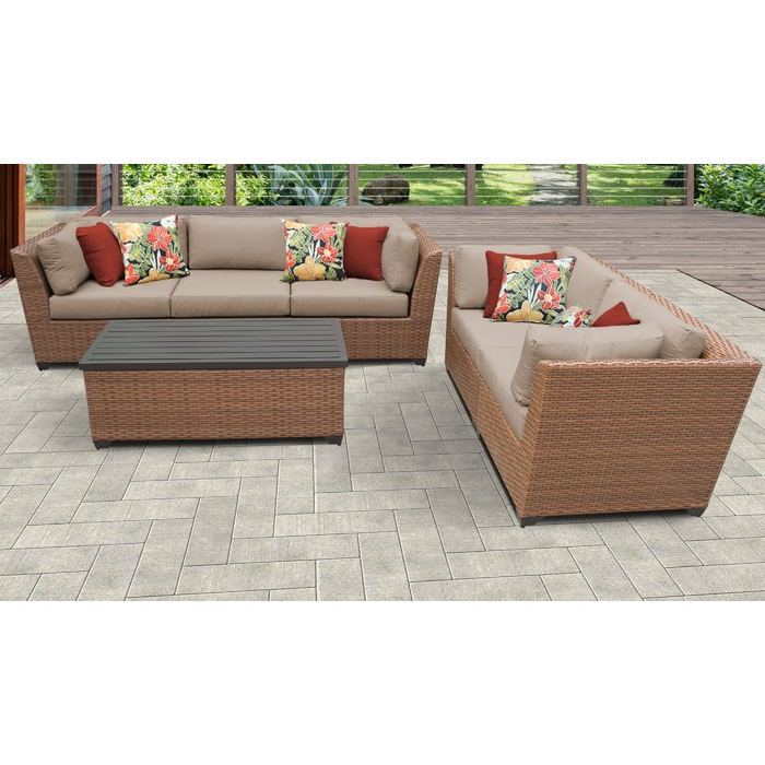 Most Current Laguna Outdoor Sofas With Cushions In Laguna 6 Piece Outdoor Sofa Seating Group With Cushions (View 14 of 20)