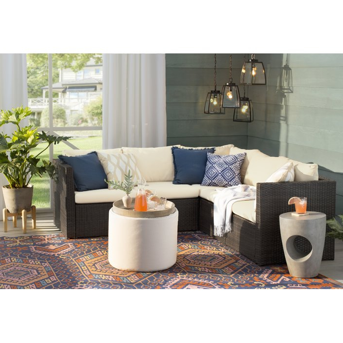 Most Current Larsen Patio Sectionals With Cushions Throughout Larsen Patio Sectional With Cushions (View 10 of 20)
