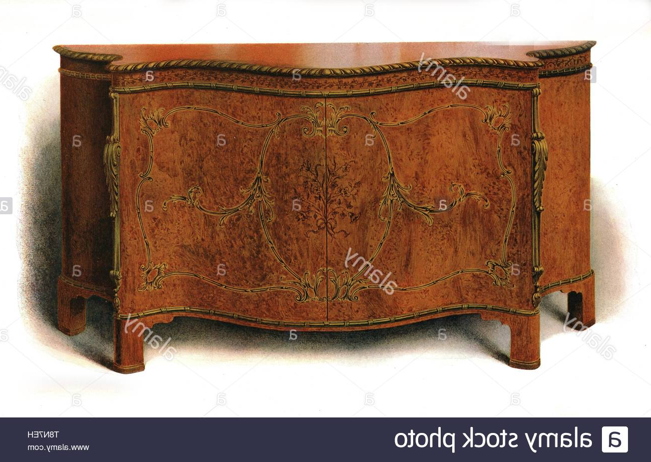 Most Current Lithograph History Of English Furniture Stock Photos Within Chalus Sideboards (View 14 of 20)