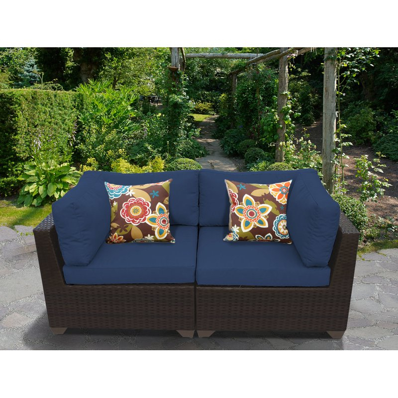 Most Current Mosca Patio Loveseats With Cushions Within Camak Patio Loveseat With Cushions (View 17 of 20)