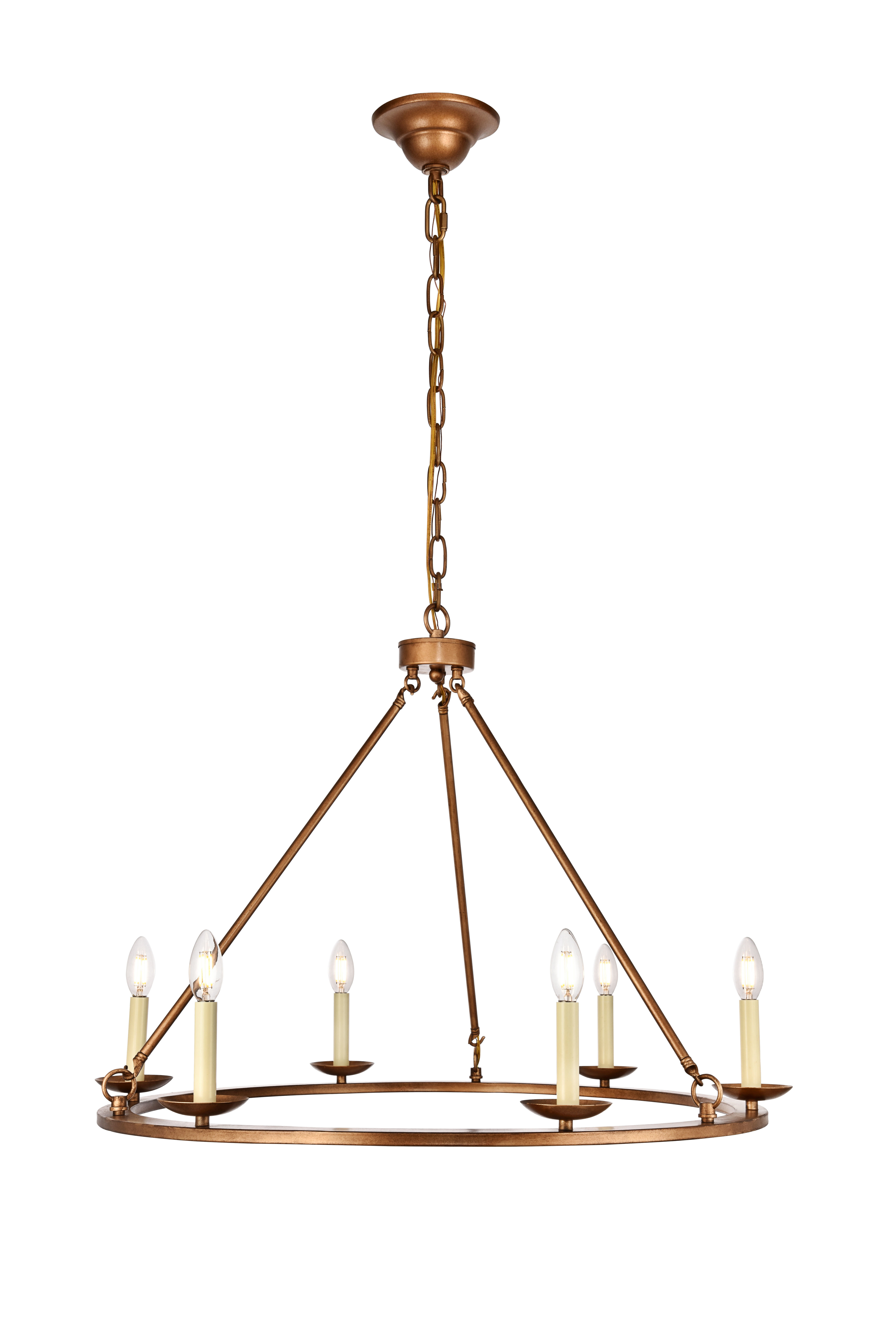 Most Current Pickensville 6 Light Wagon Wheel Chandelier Regarding Pickensville 6 Light Wagon Wheel Chandeliers (View 7 of 20)