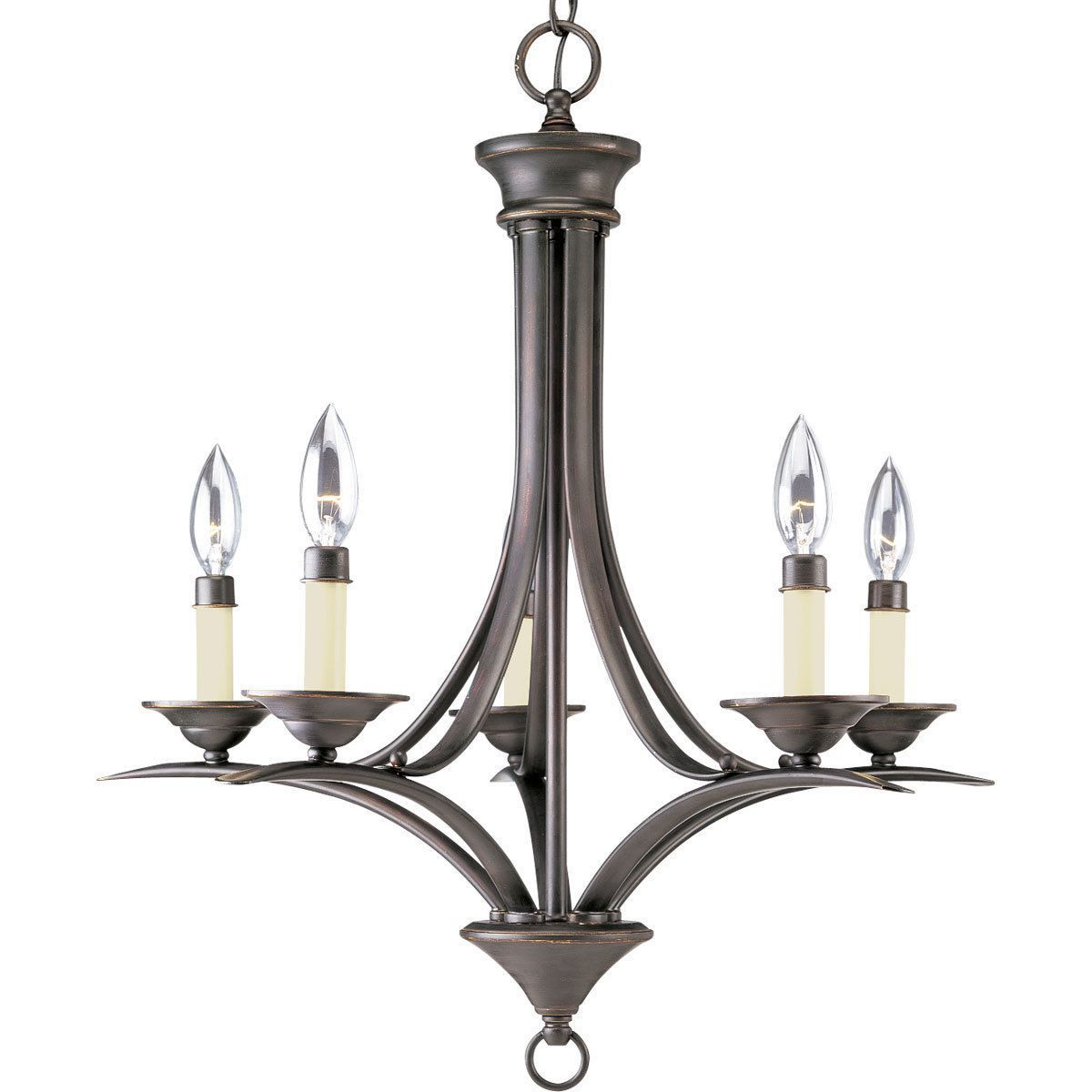 Most Current Progress Lighting 5 Light Chandelier Lighting Fixture – N/a Intended For Kenedy 9 Light Candle Style Chandeliers (View 11 of 20)