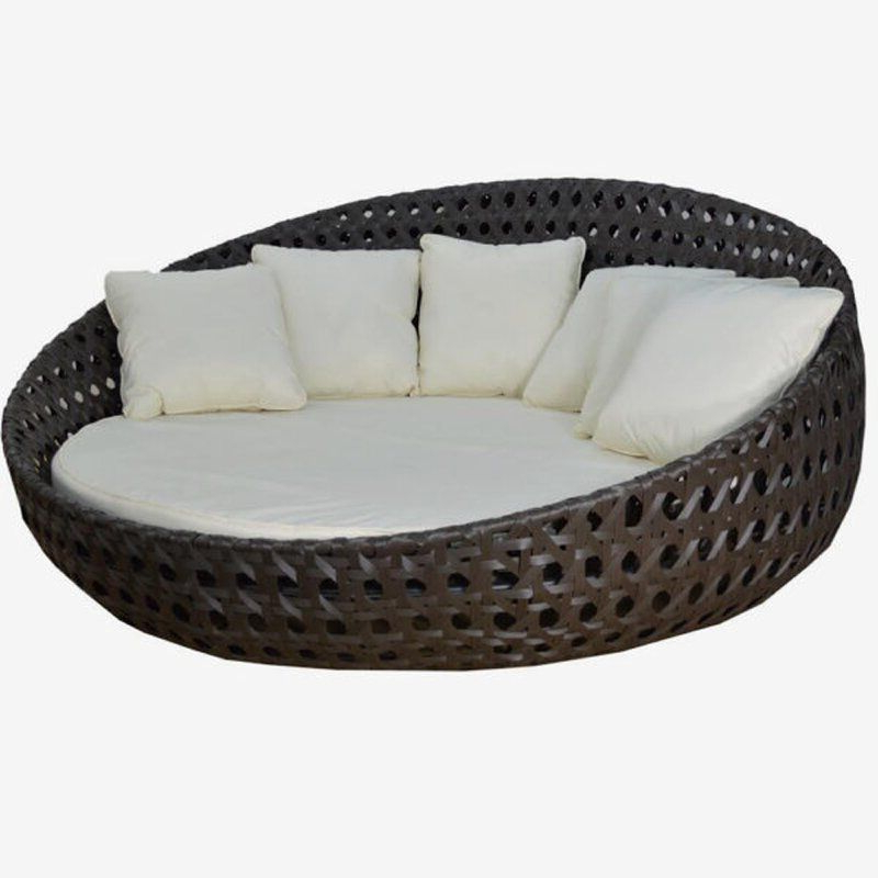 Most Current Round Patio Daybed With Sunbrella Cushions Inside Leiston Round Patio Daybeds With Cushions (Gallery 11 of 20)
