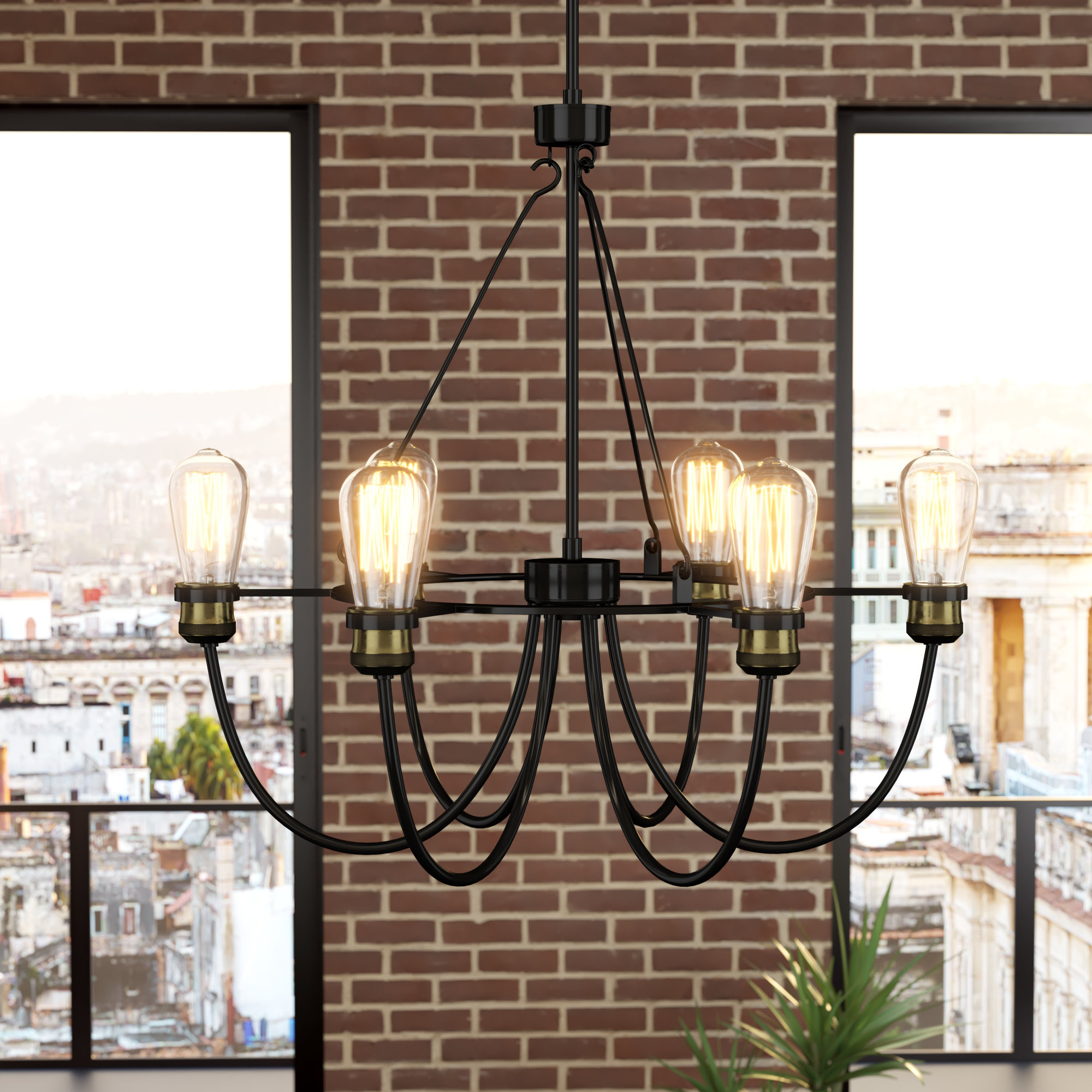 Most Current Sherri 6 Light Chandeliers With Regard To Georgeanna 6 Light Chandelier (View 6 of 20)