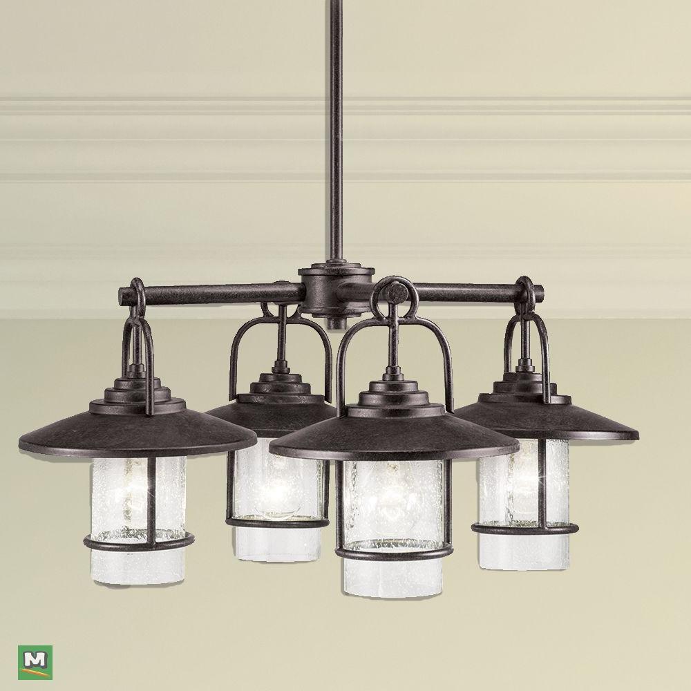 Most Current Tabit 5 Light Geometric Chandeliers Inside Patriot Lighting Elegant Home Miner Bronze 4 Light (View 10 of 20)