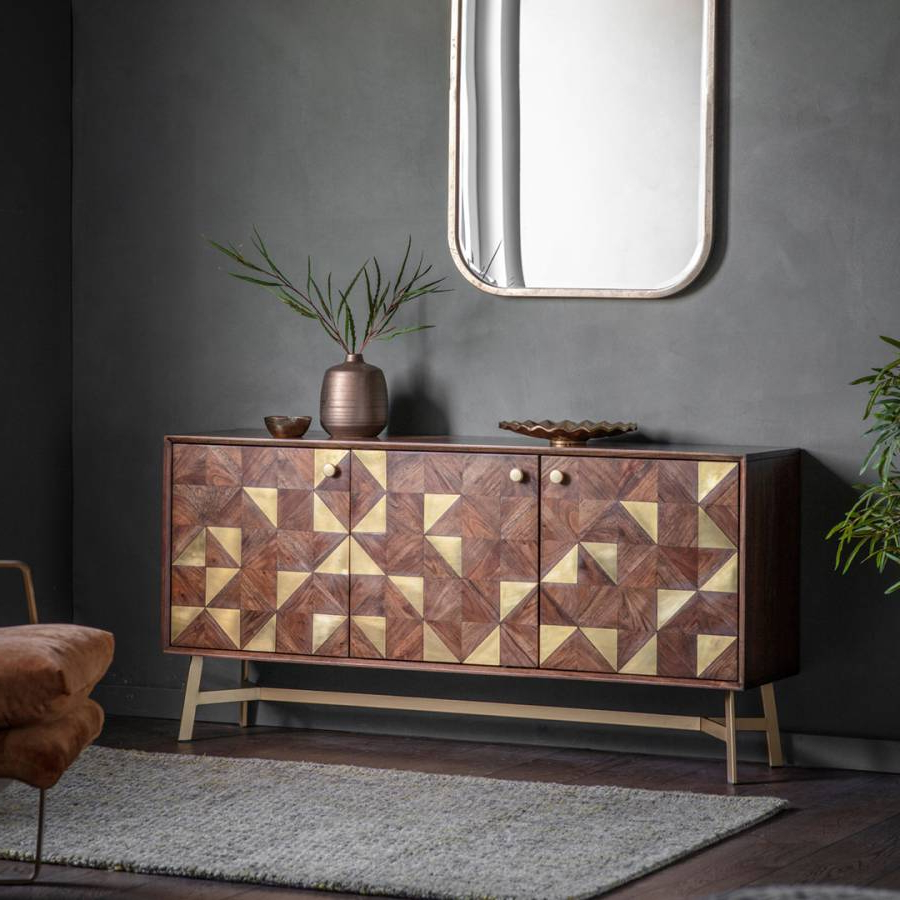 Most Current Tate 3 Door Sideboard – Brandalley Throughout Tate Sideboards (View 9 of 20)