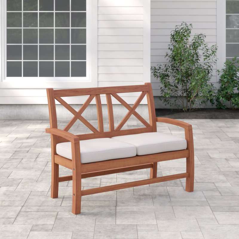 Most Current Tim X Back Patio Loveseats With Cushions Throughout Tim X Back Patio Loveseat With Cushions (View 2 of 20)