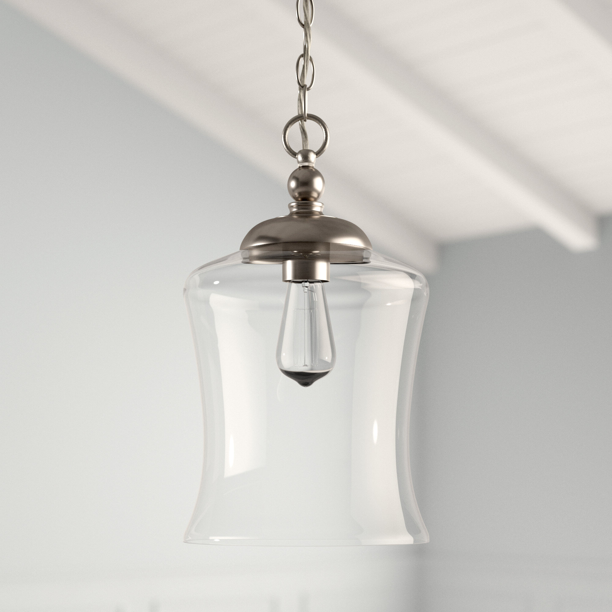 Most Current Wentzville 1 Light Single Bell Pendant Inside Moyer 1 Light Single Cylinder Pendants (View 5 of 20)