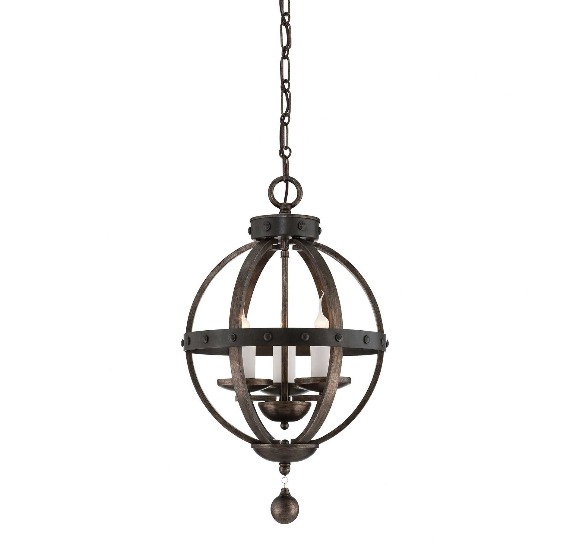 Most Current Wilburton 3 Light Globe Chandelier Regarding La Barge 3 Light Globe Chandeliers (View 16 of 20)