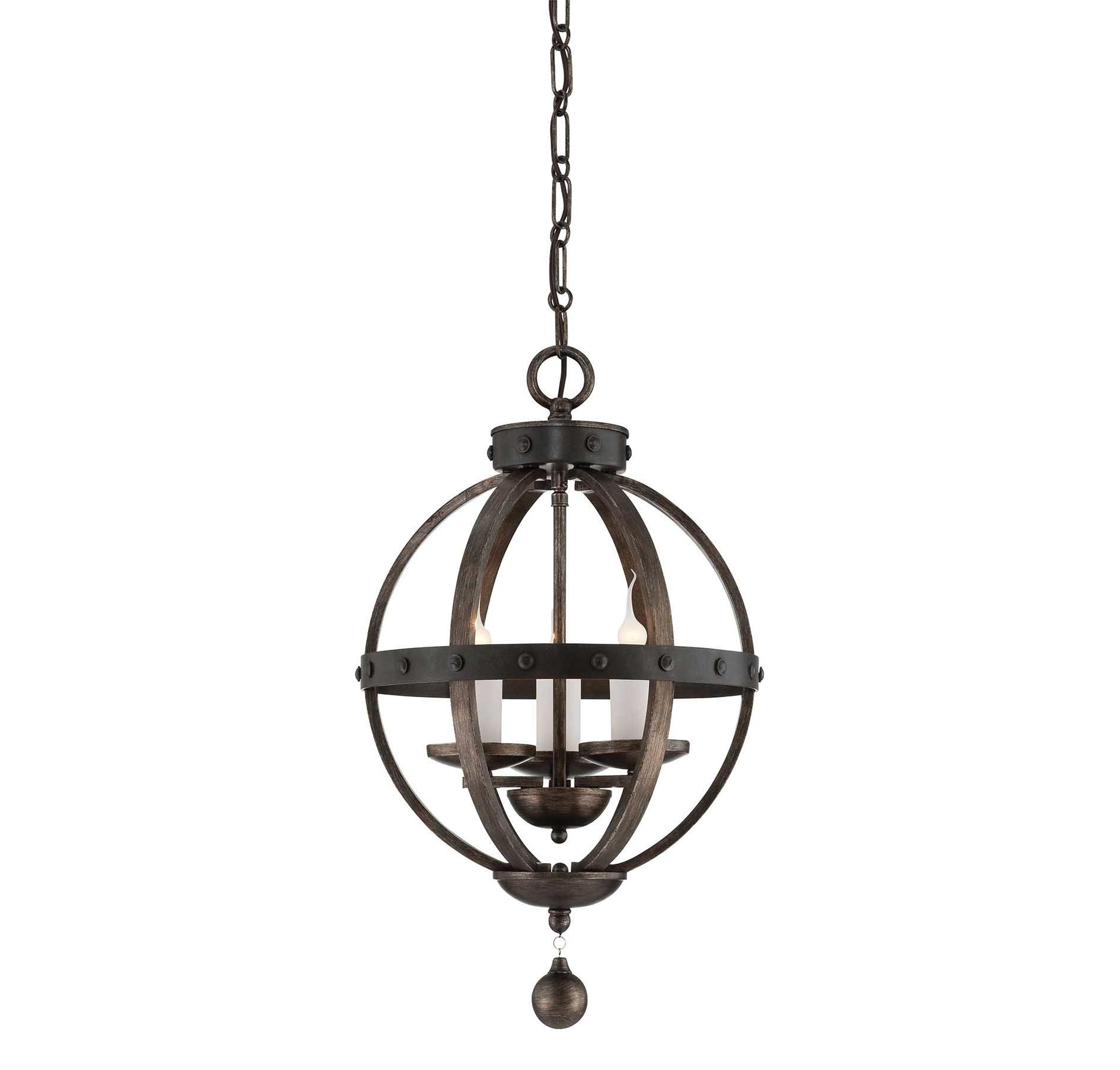 Most Current Wilburton 3 Light Globe Chandelier Regarding La Barge 3 Light Globe Chandeliers (Gallery 10 of 20)