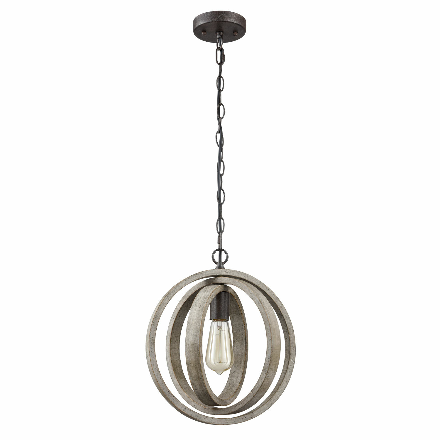 Most Popular Adame Modern Rustic 1 Light Globe Pendant Intended For Irwin 1 Light Single Globe Pendants (Gallery 6 of 20)