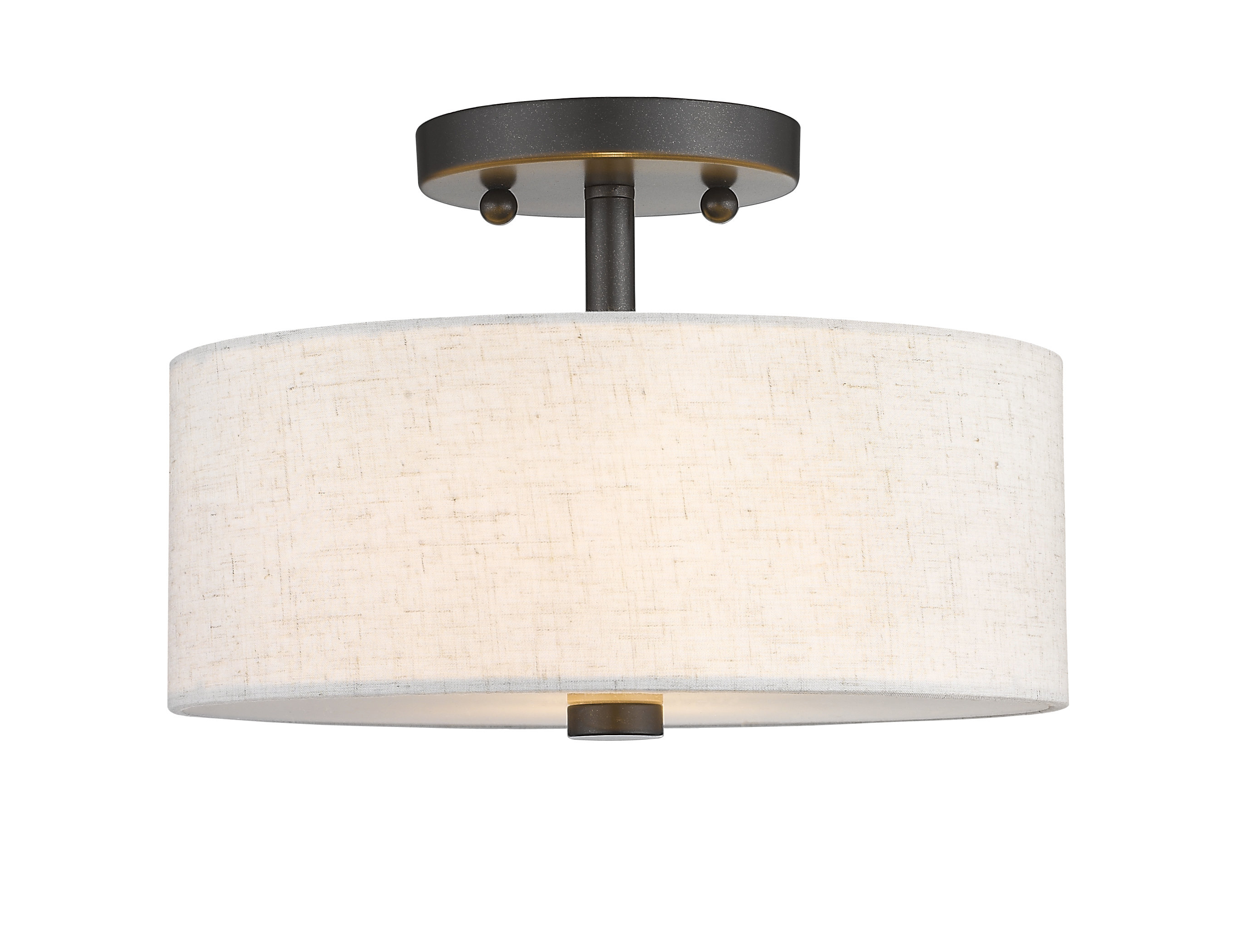 Most Popular Alina 2 Light Semi Flush Mount With Regard To Alina 5 Light Drum Chandeliers (View 10 of 20)