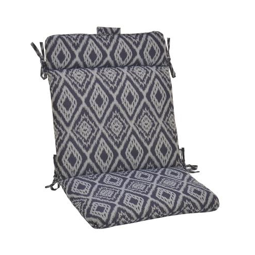 Most Popular Baltic Patio Sofas With Cushions Throughout Backyard Creations™ Baltic Ikat Wrought Iron Patio Chair (View 10 of 20)