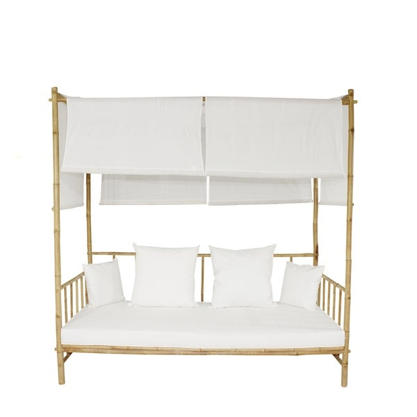 Most Popular Bamboo Daybed With Canopy – Robotena For Grosvenor Bamboo Patio Daybeds With Cushions (View 13 of 20)