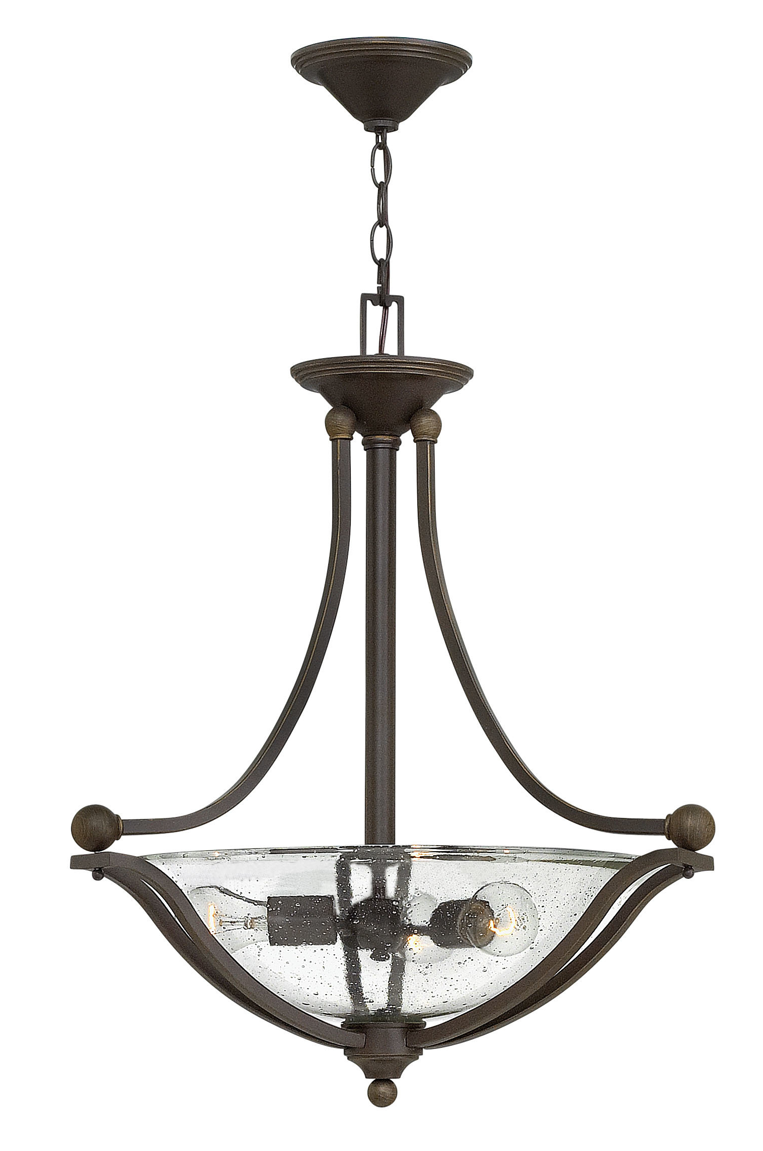 Most Popular Bolla 3 Light Bowl Pendant With Newent 3 Light Single Bowl Pendants (Gallery 14 of 20)