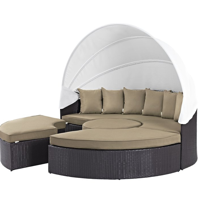 Most Popular Brentwood Patio Daybed With Cushions Inside Brentwood Patio Daybeds With Cushions (View 15 of 20)