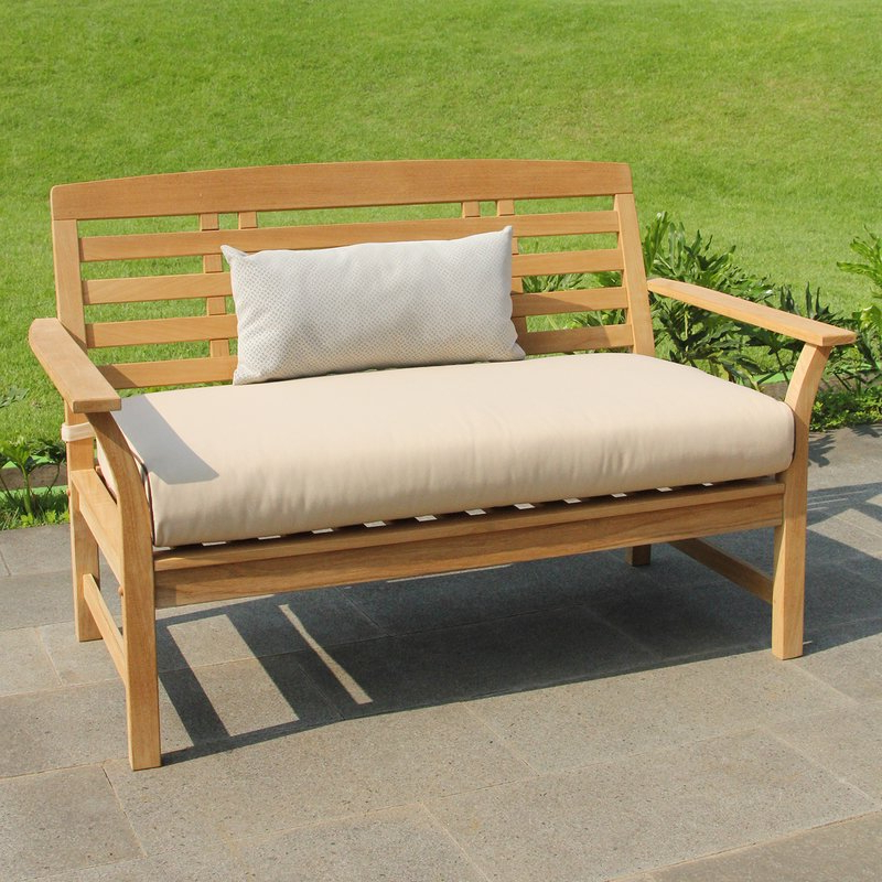 Most Popular Calila Teak Loveseats With Cushion With Calila 6 Piece Teak Sofa Seating Group With Cushions (View 15 of 20)