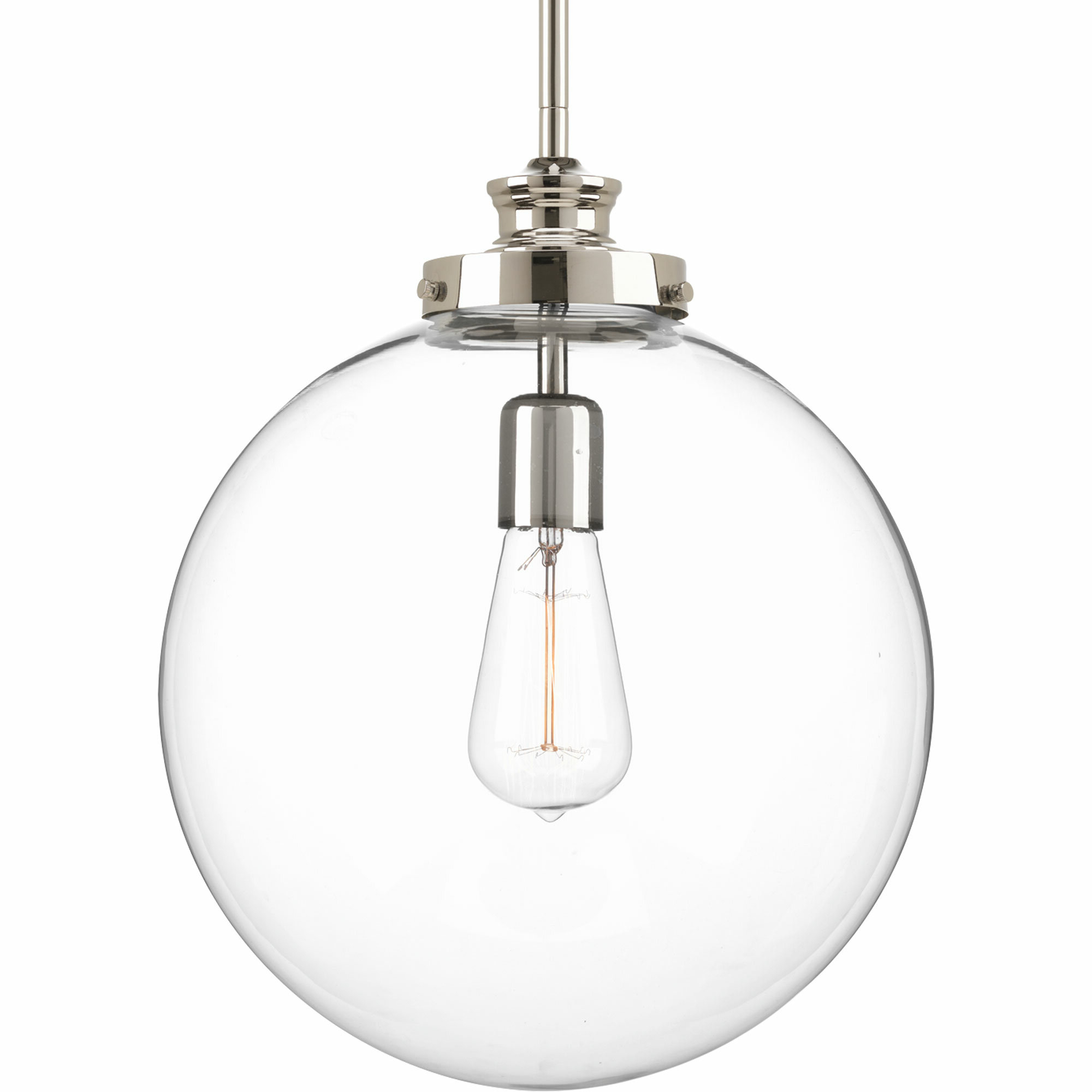 Most Popular Cayden 1 Light Single Globe Pendants Pertaining To Cayden 1 Light Single Globe Pendant (View 3 of 20)