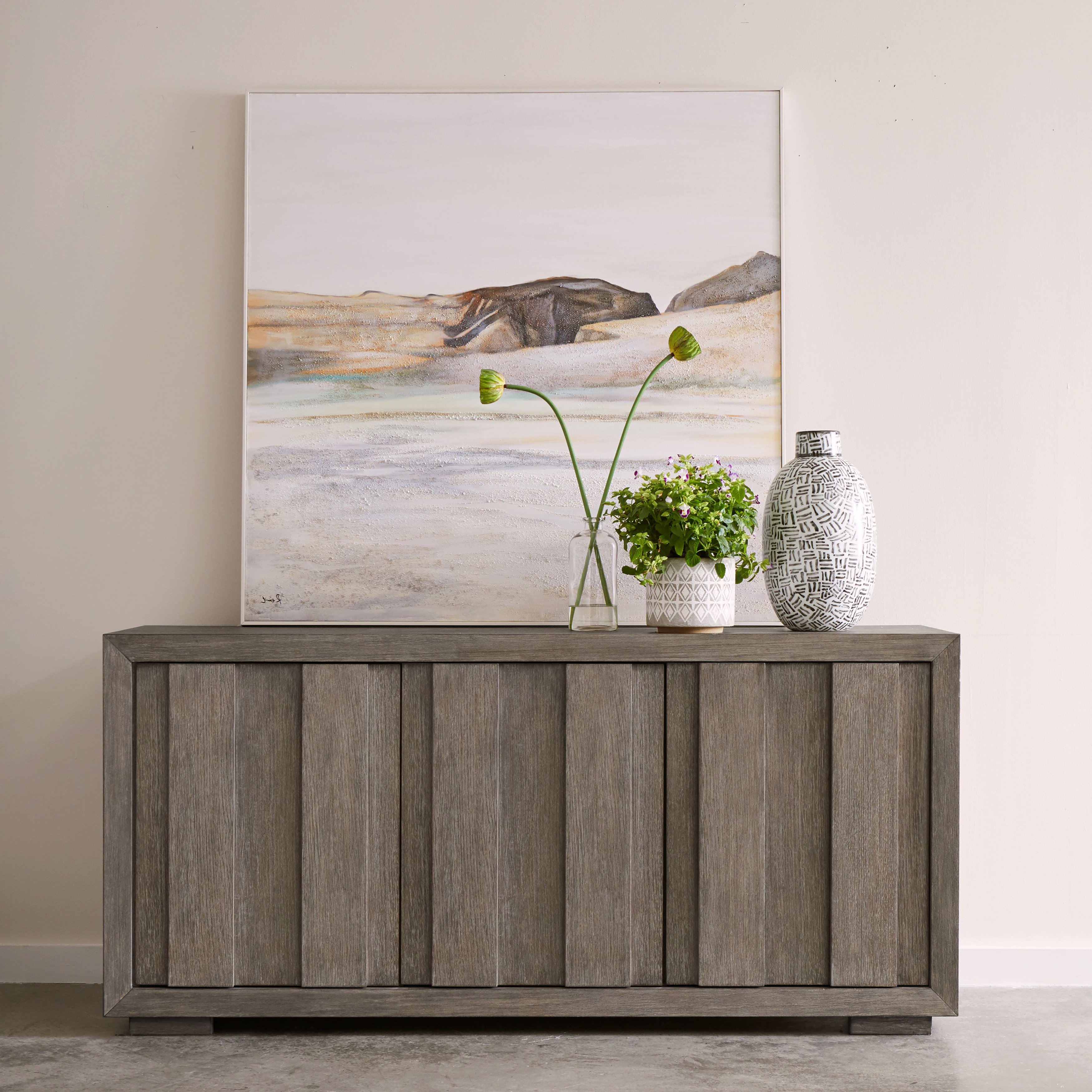 Most Popular Chicoree Charlena Sideboards Within Brisco Rustic Plank Front 3 Door Storage Credenza (View 12 of 20)