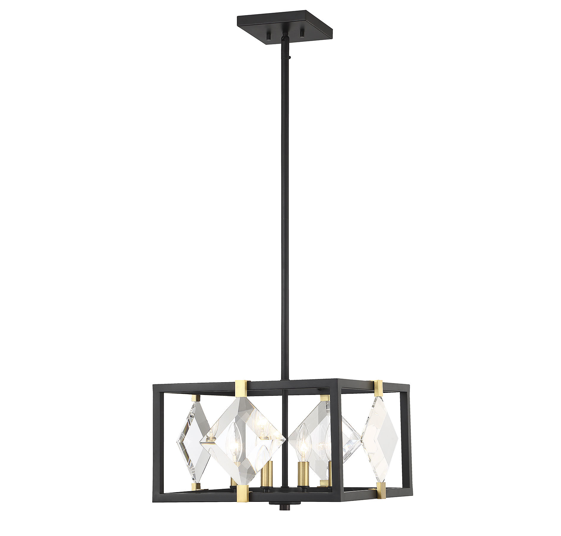 Most Popular Delon 4 Light Square Chandeliers For Nowak 4 Light Square/rectangle Chandelier (View 13 of 20)