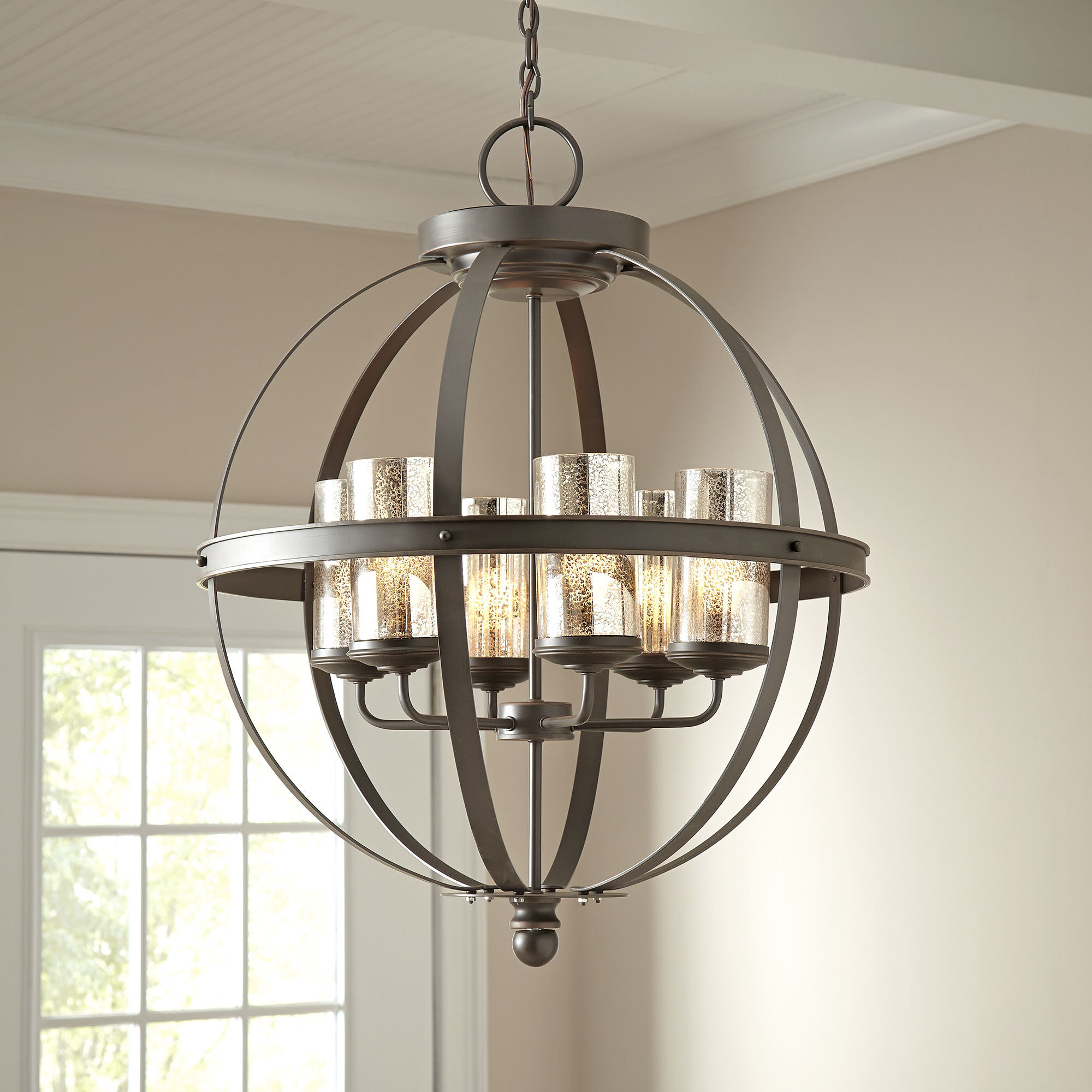 Most Popular Donna 4 Light Globe Chandeliers Throughout Donna 6 Light Globe Chandelier (View 18 of 20)