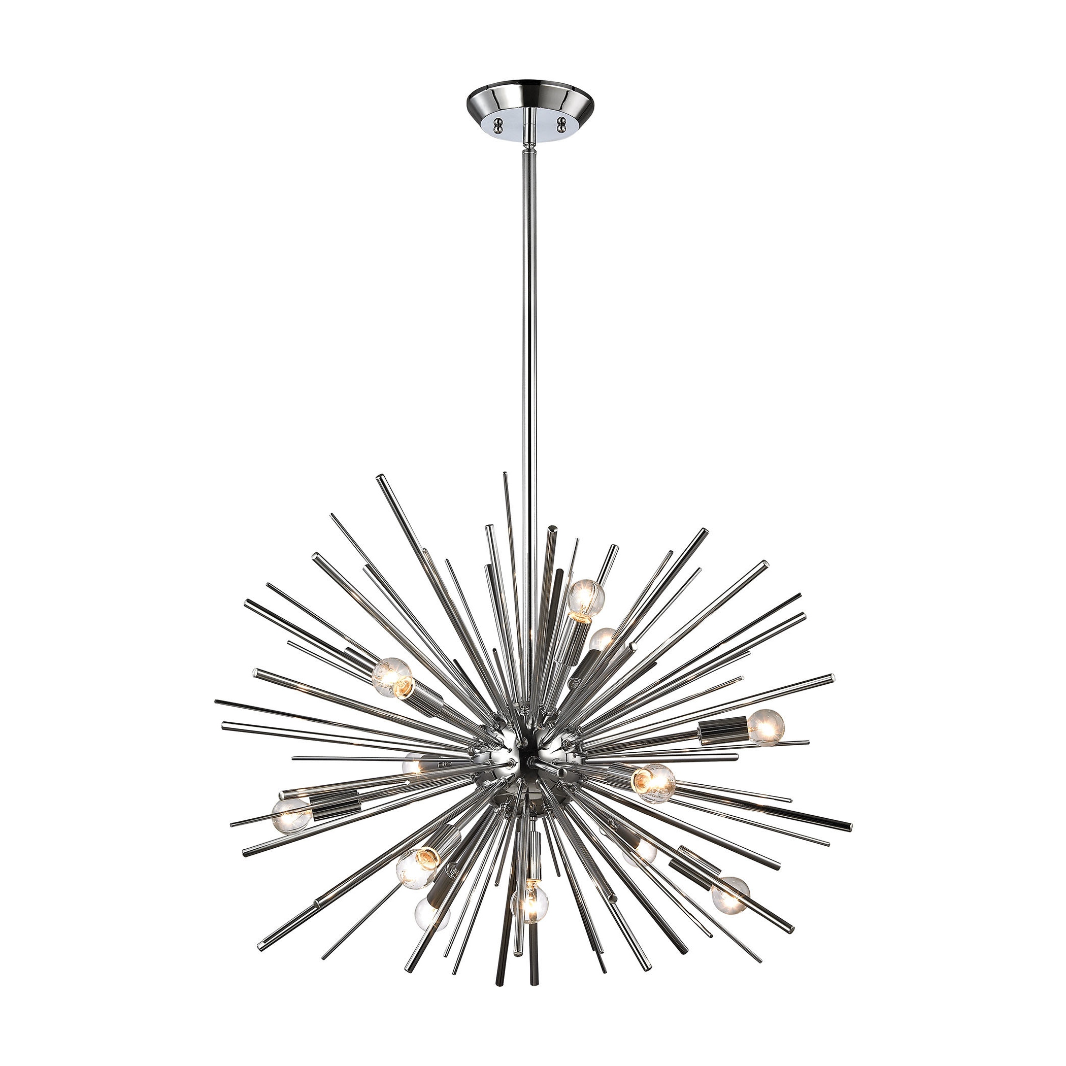 Most Popular Elinore 12 Light Sputnik Chandelier With Nelly 12 Light Sputnik Chandeliers (View 6 of 20)