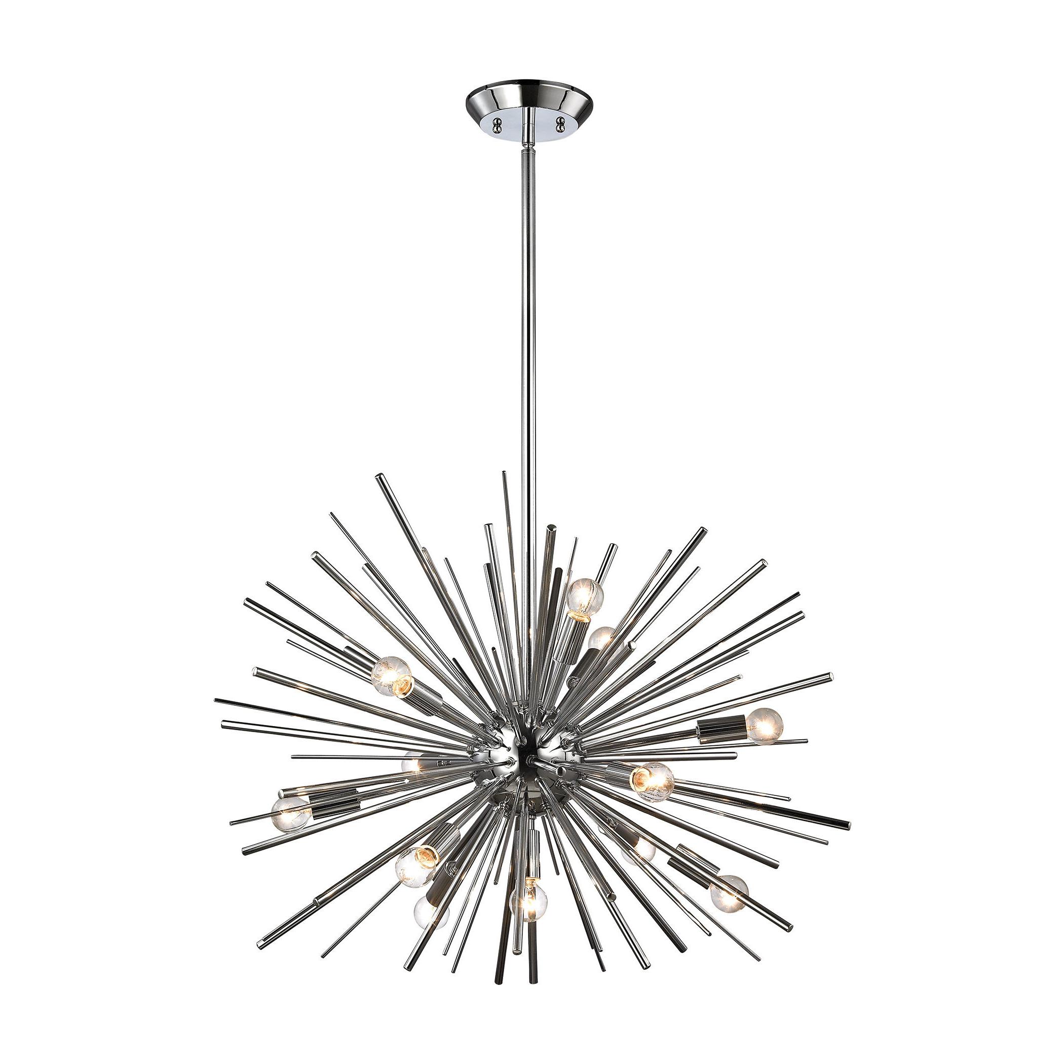 Most Popular Elinore 12 Light Sputnik Chandelier With Nelly 12 Light Sputnik Chandeliers (Gallery 8 of 20)