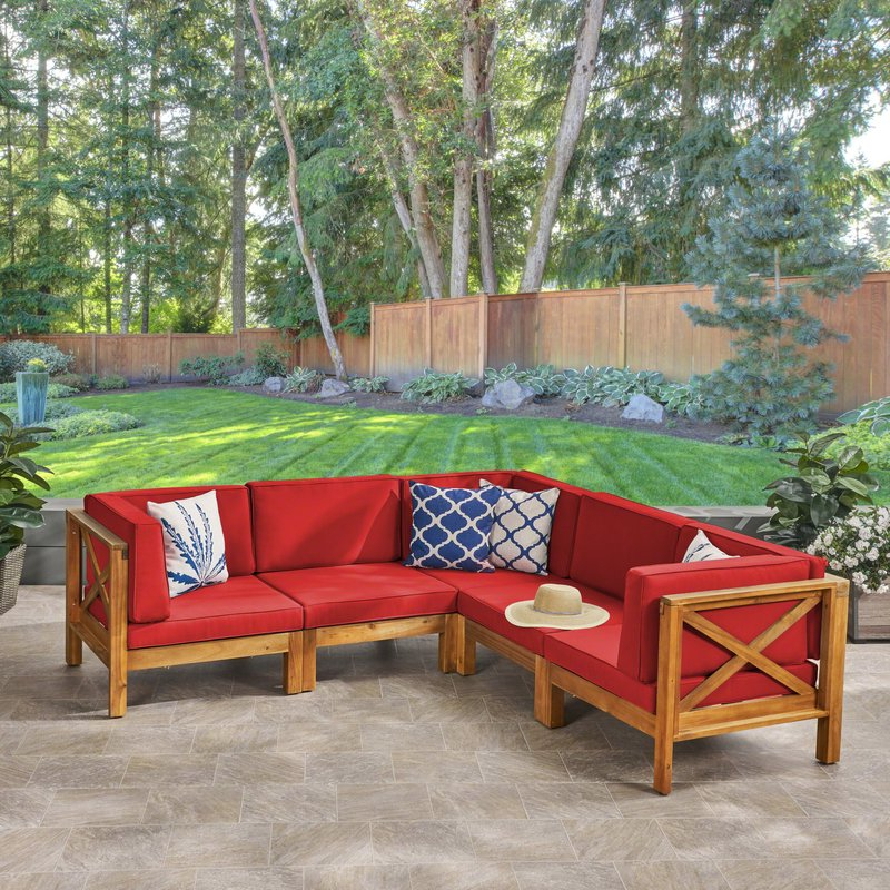 Most Popular Ellison Patio Sectional With Cushions Pertaining To Ellison Patio Sectionals With Cushions (View 13 of 20)