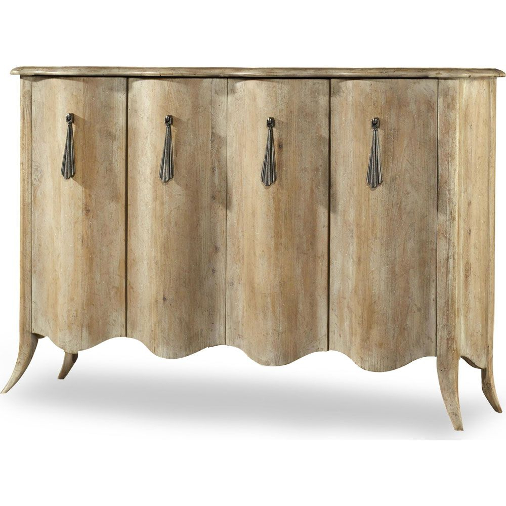 Most Popular Elyza Credenzas Within Hooker Melange Draped Credenza (Gallery 20 of 20)