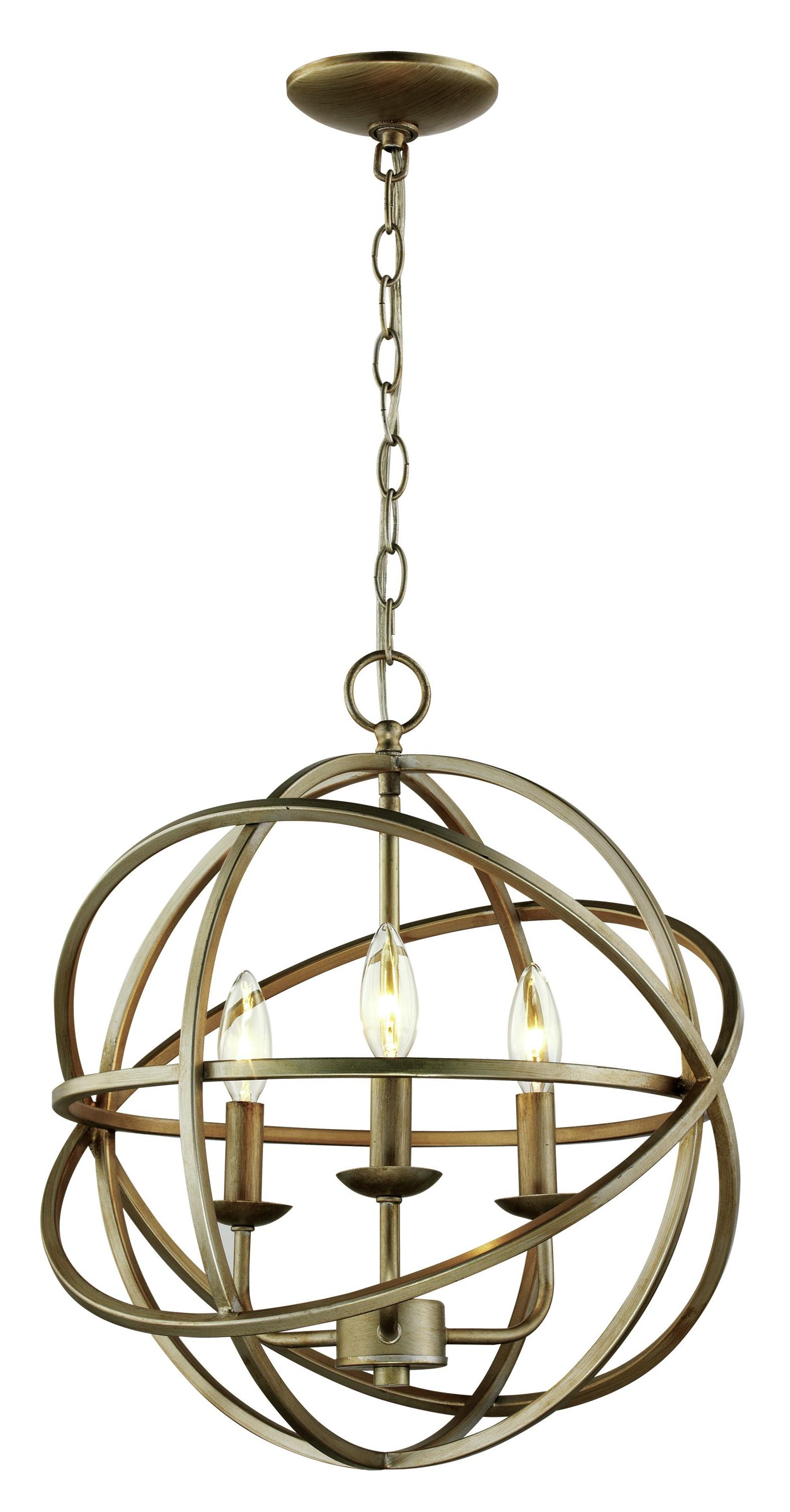 Most Popular Filipe Globe Chandeliers In Baitz 3 Light Globe Chandelier (View 14 of 20)