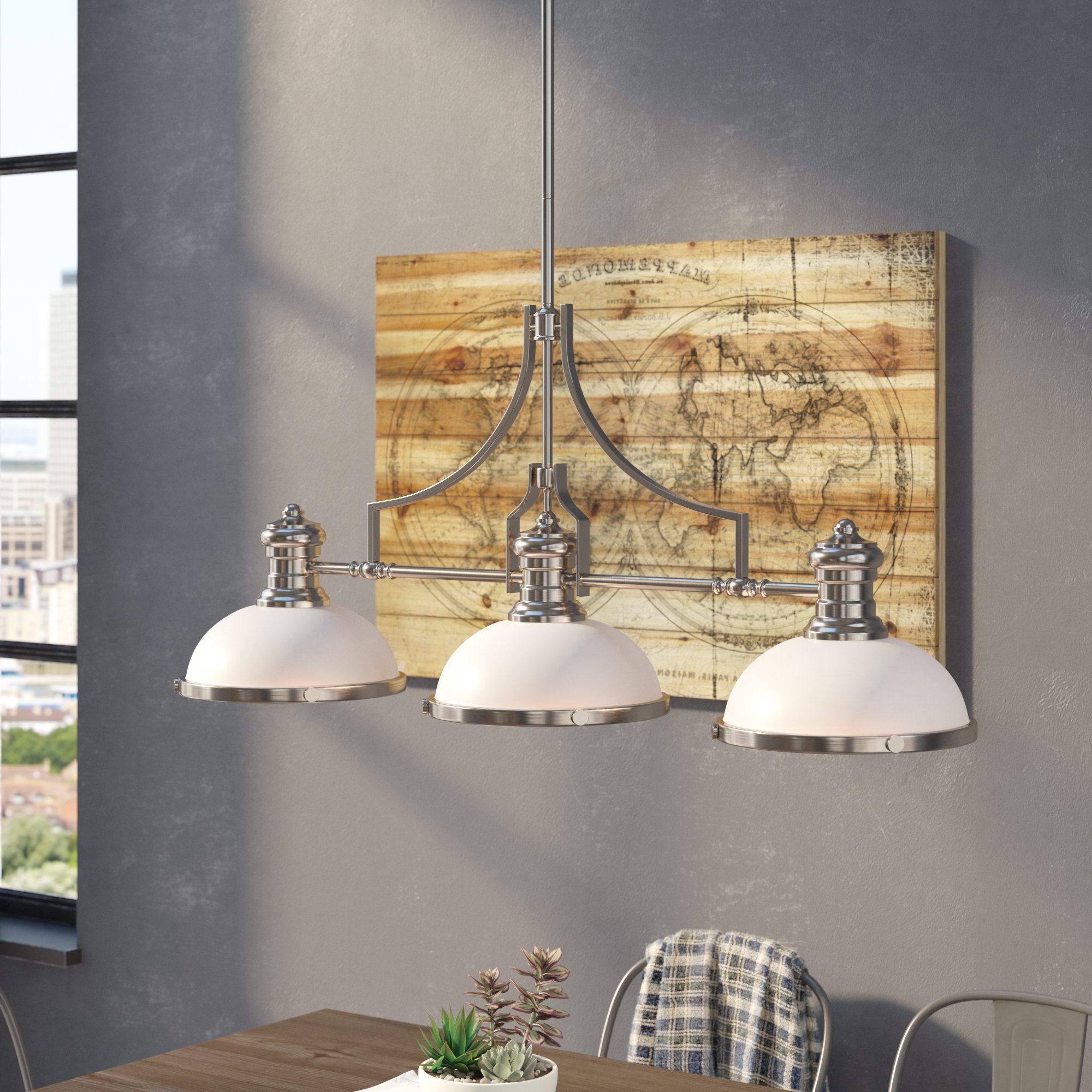 Most Popular Fredela 3 Light Billiard/kitchen Island Pendant Throughout Fredela 3 Light Kitchen Island Pendants (View 14 of 20)