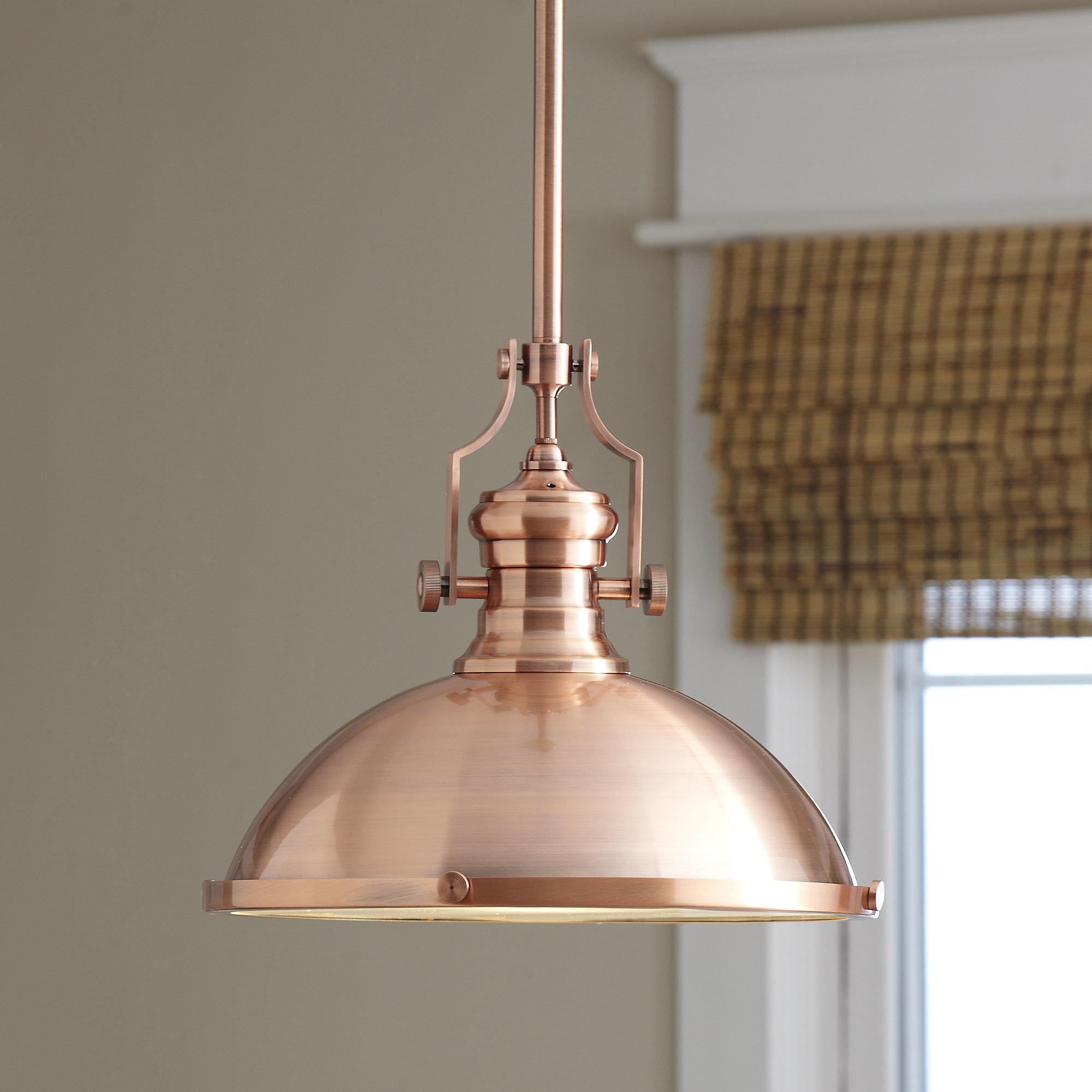 Most Popular Freeda 1 Light Single Dome Pendants Intended For 1 Light Single Dome Pendant (View 12 of 20)
