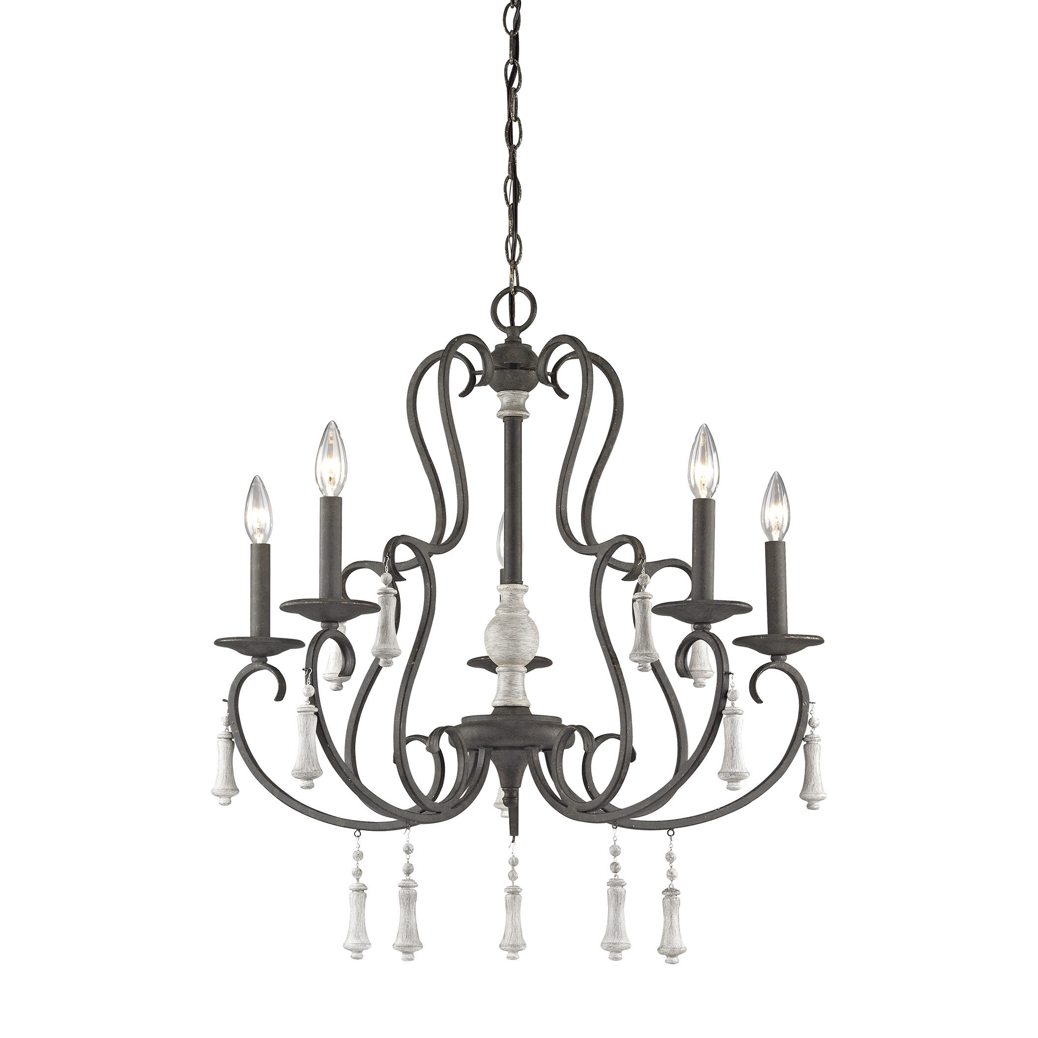 Most Popular Gaines 5 Light Shaded Chandeliers Within Pollitt 5 Light Chandelier (View 14 of 20)