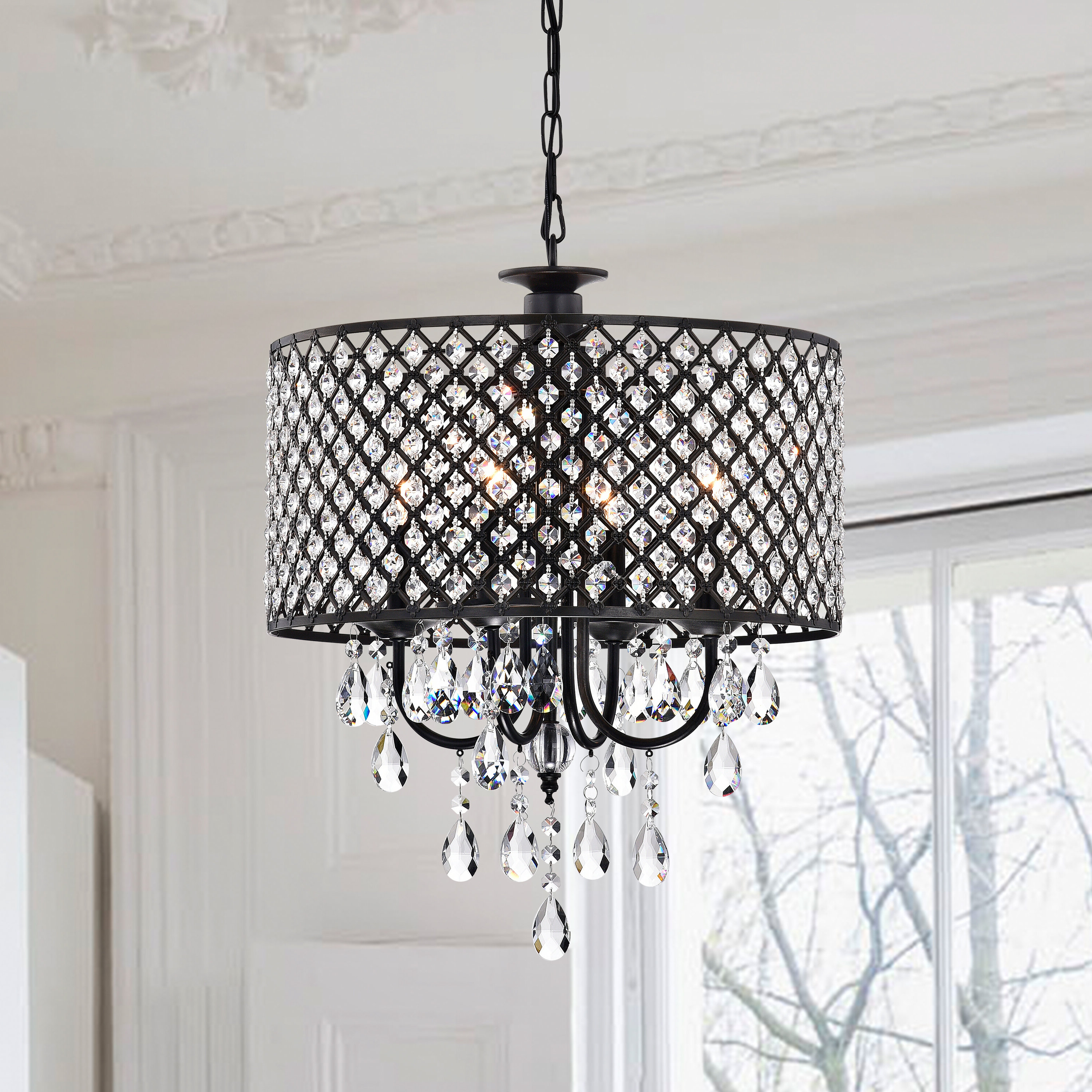 Most Popular Gisselle 4 Light Drum Chandelier Intended For Jill 4 Light Drum Chandeliers (View 2 of 20)