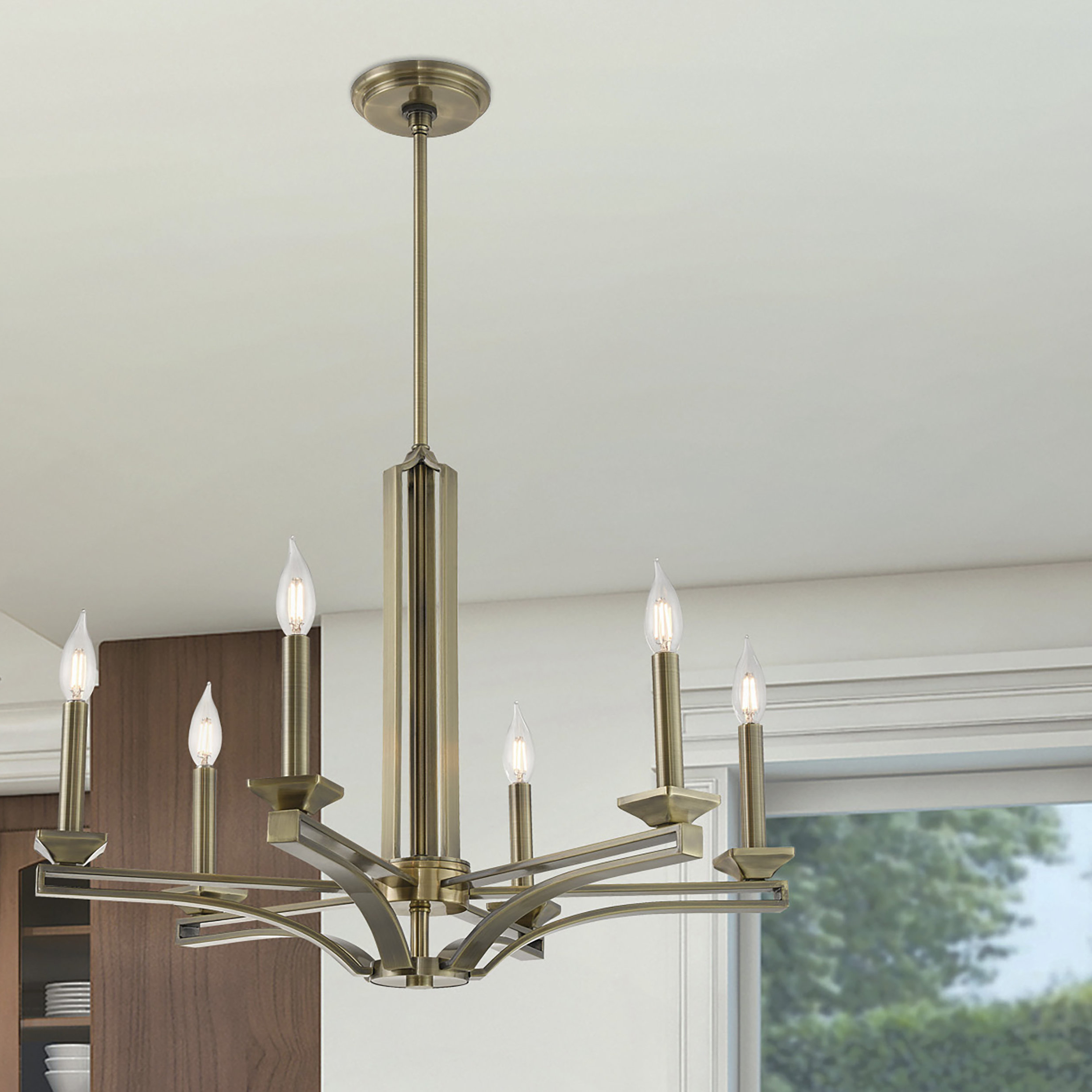 Most Popular Hesse 5 Light Candle Style Chandeliers With Dedham 6 Light Candle Style Chandelier (View 15 of 20)