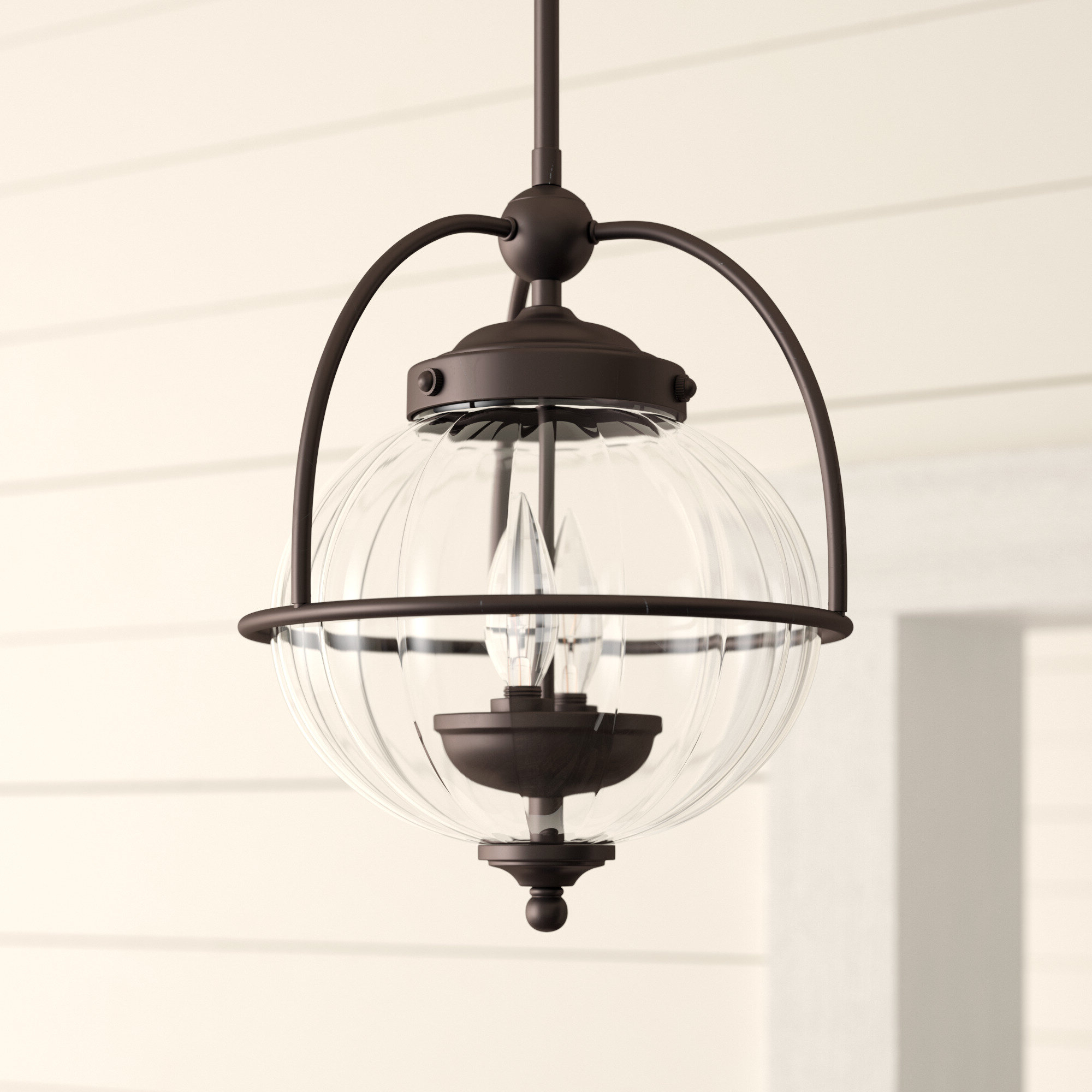 Most Popular Irwin 1 Light Single Globe Pendants Pertaining To Farmhouse & Rustic Globe Pendants (View 14 of 20)