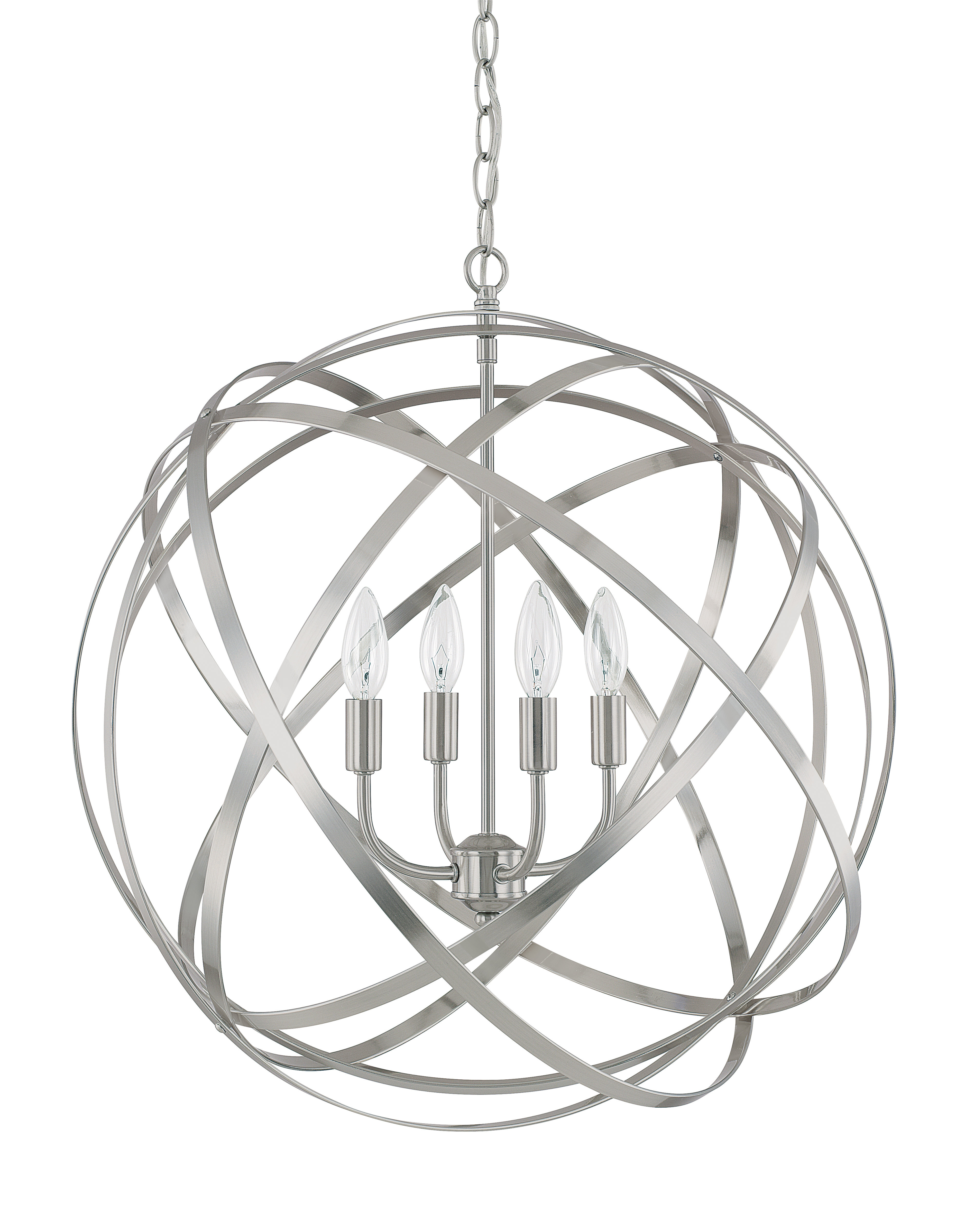 Most Popular Kierra 4 Light Unique / Statement Chandelier With Regard To Hendry 4 Light Globe Chandeliers (View 11 of 20)