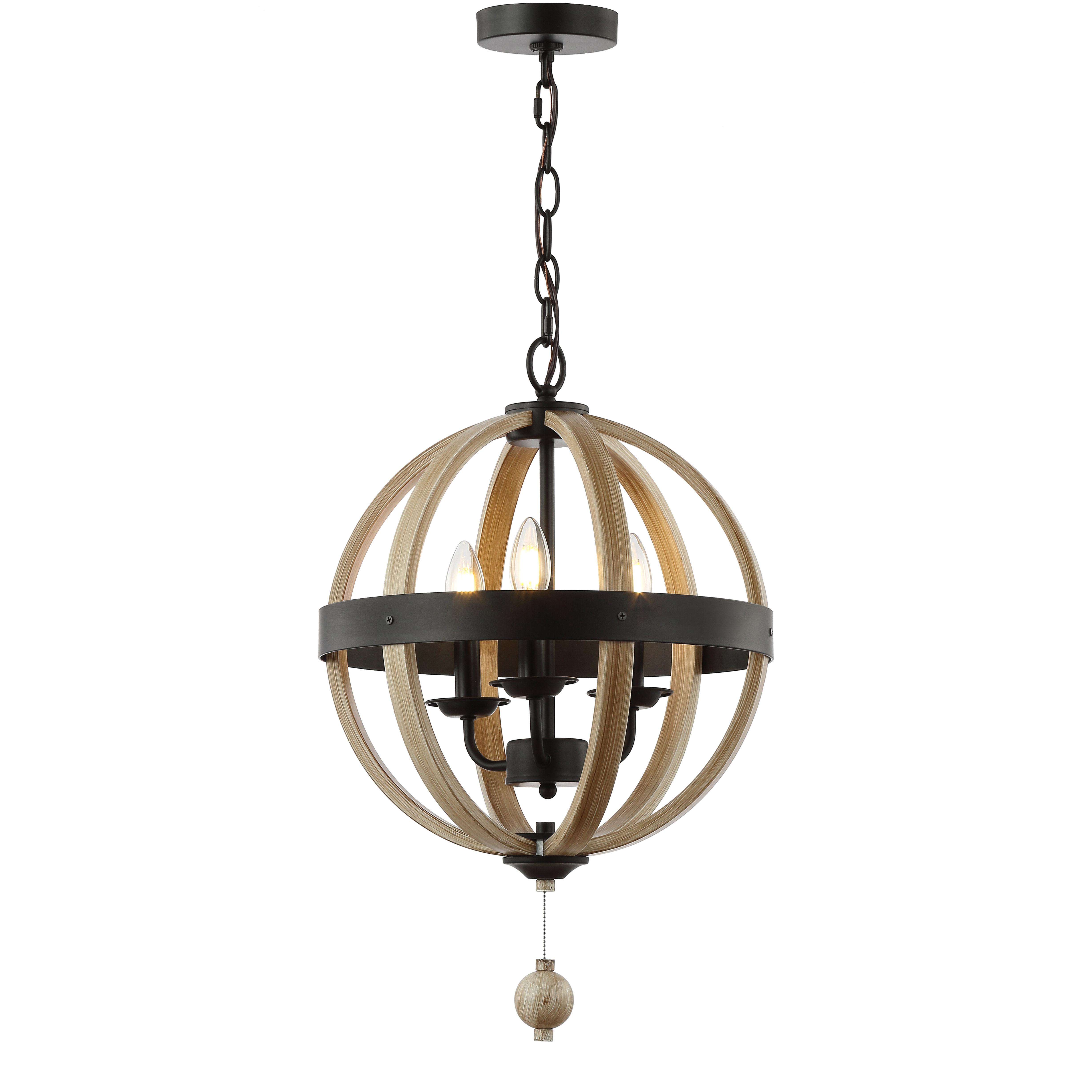 Most Popular La Barge 3 Light Globe Chandeliers Regarding Cauthen 3 Light Globe Chandelier (View 17 of 20)
