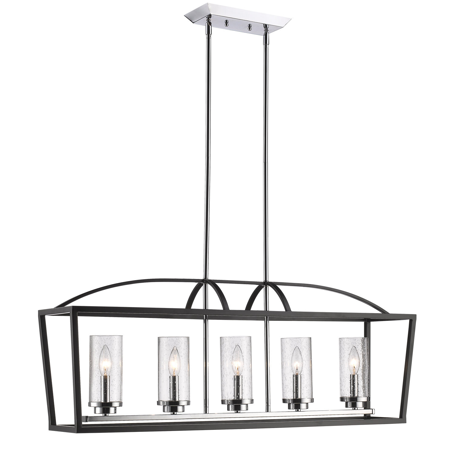 Most Popular Luna 5 Light Kitchen Island Linear Pendant Throughout Cinchring 4 Light Kitchen Island Linear Pendants (Gallery 20 of 20)